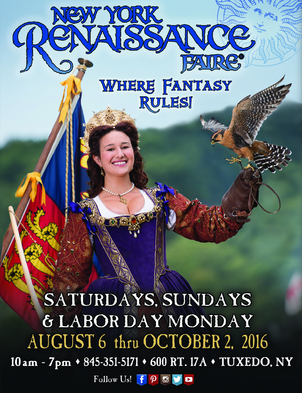 New York Renaissance Faire. Held from August 6th-October 2nd in Tuxedo, NY