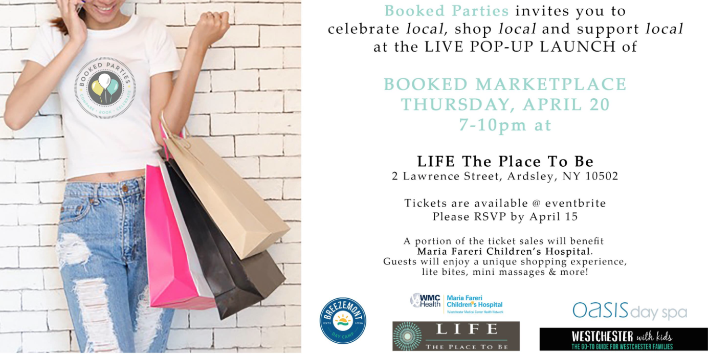 booked marketplace shopping event in westchester