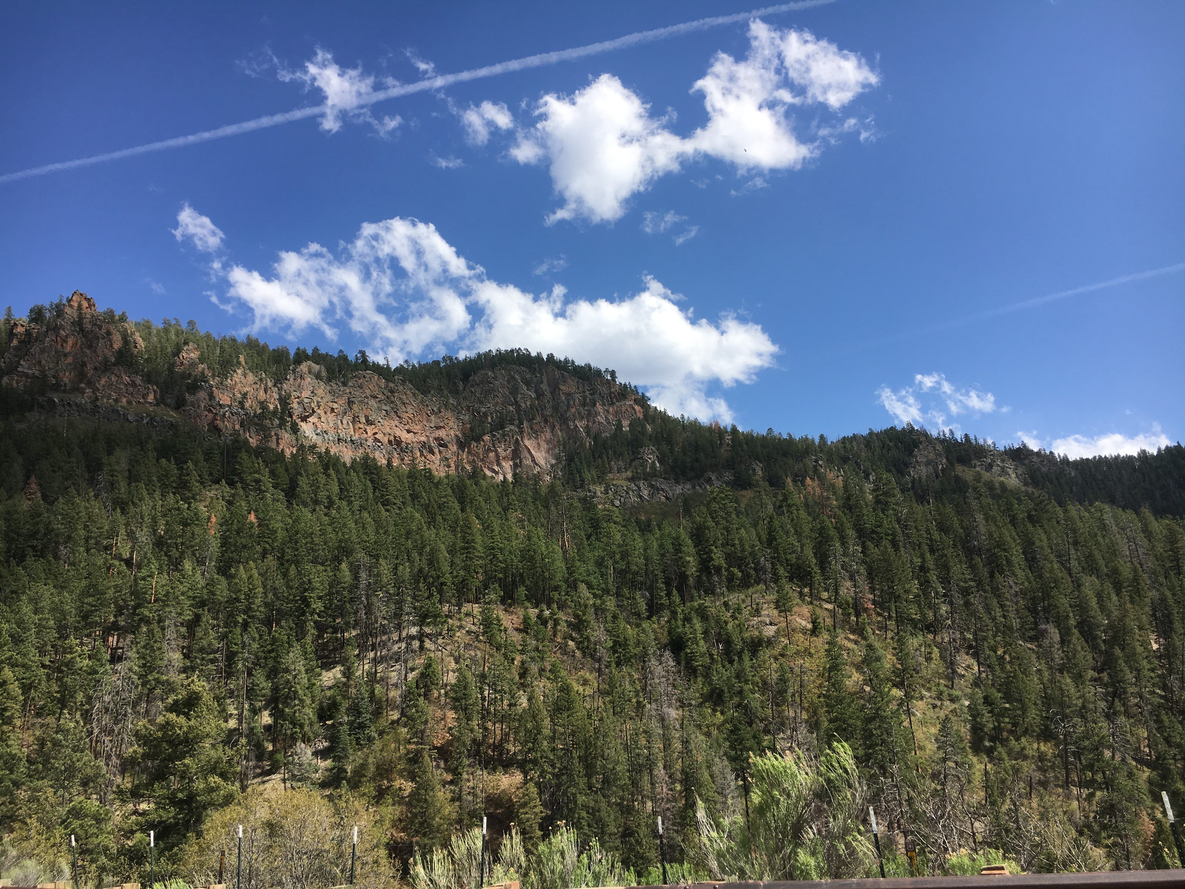 views from Jemez Falls in New Mexico
