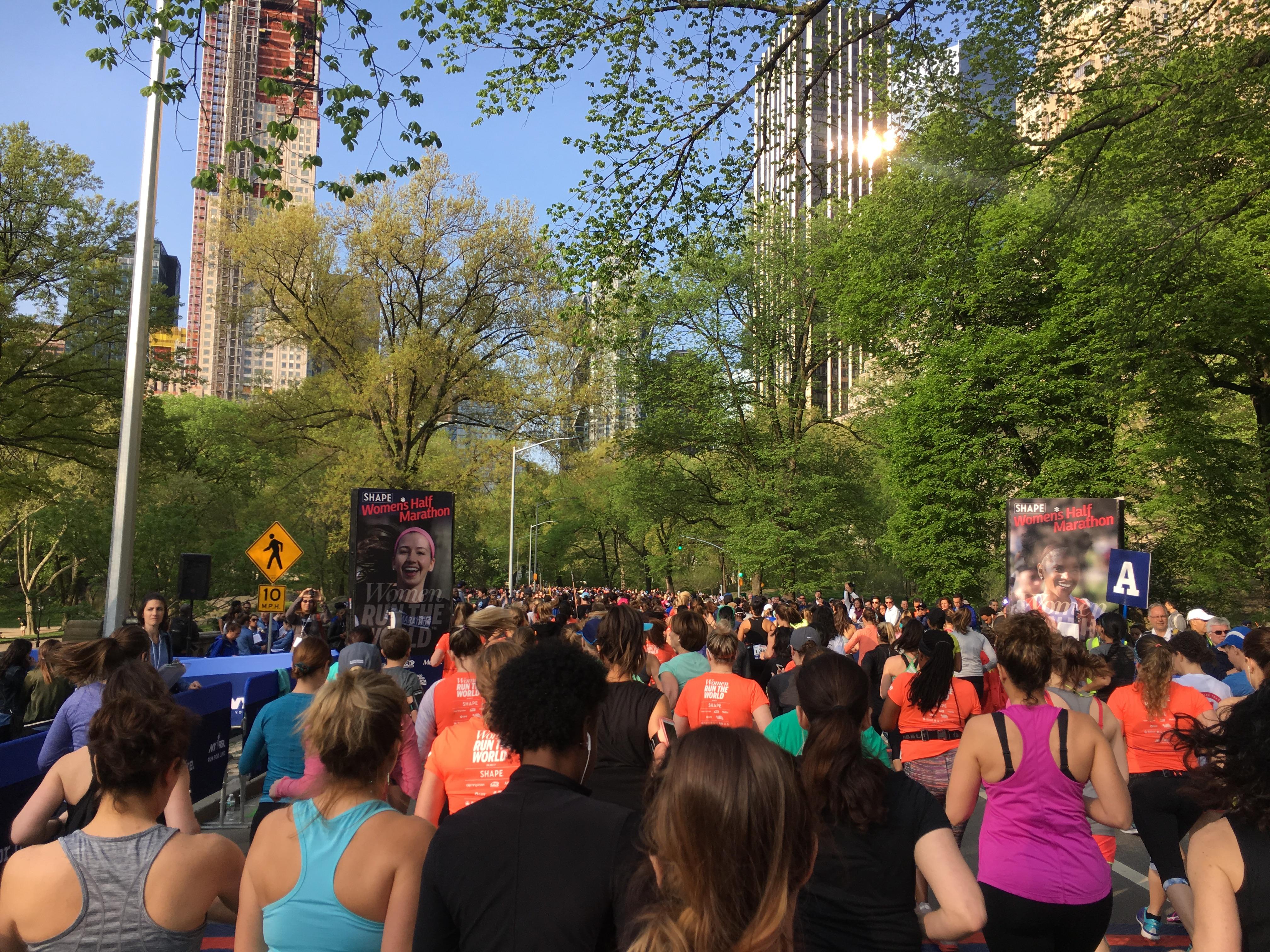 ready to run: Shape Half-Marathon in Central Park