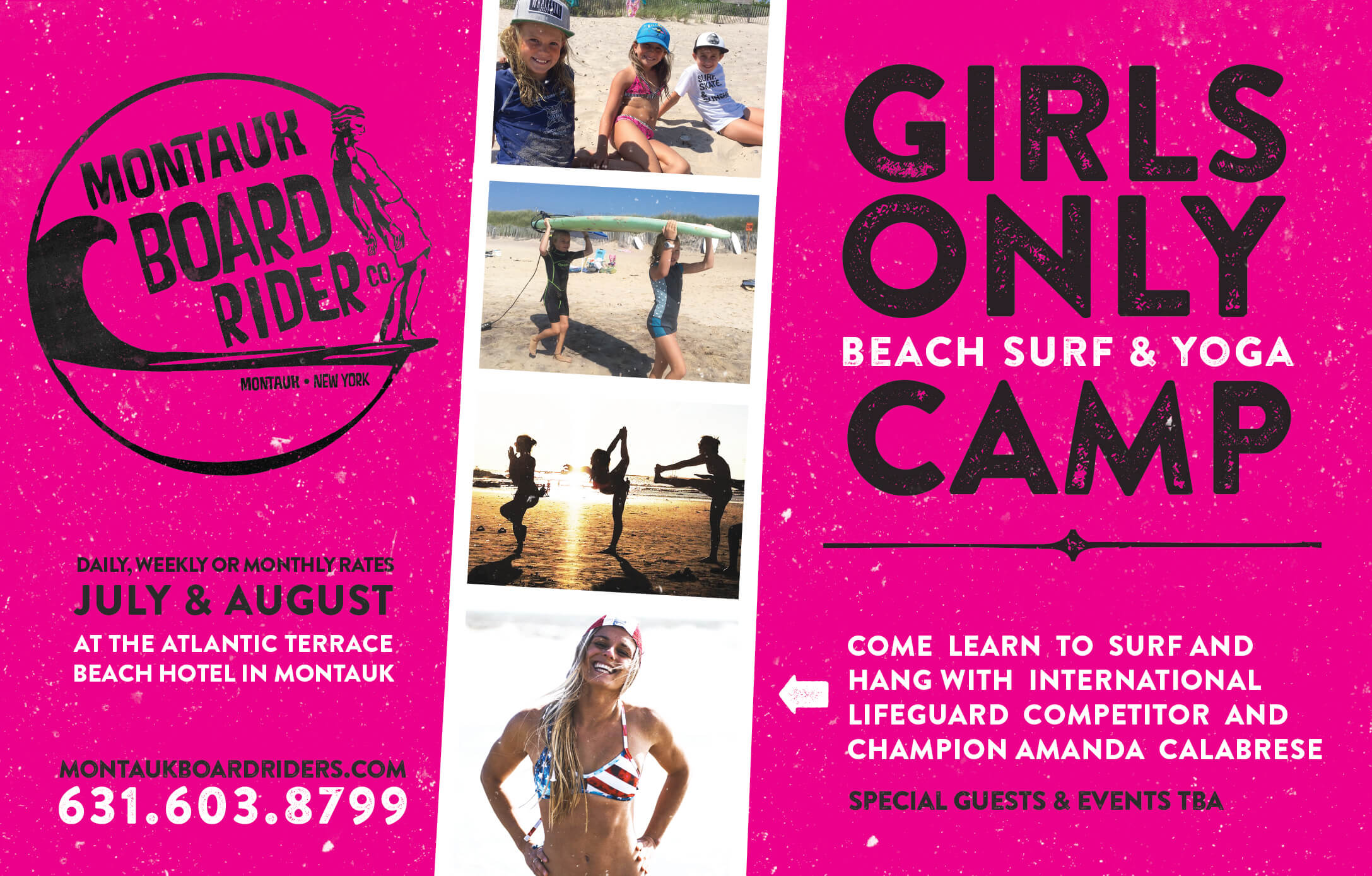 Montauk Boardriders girls only camp