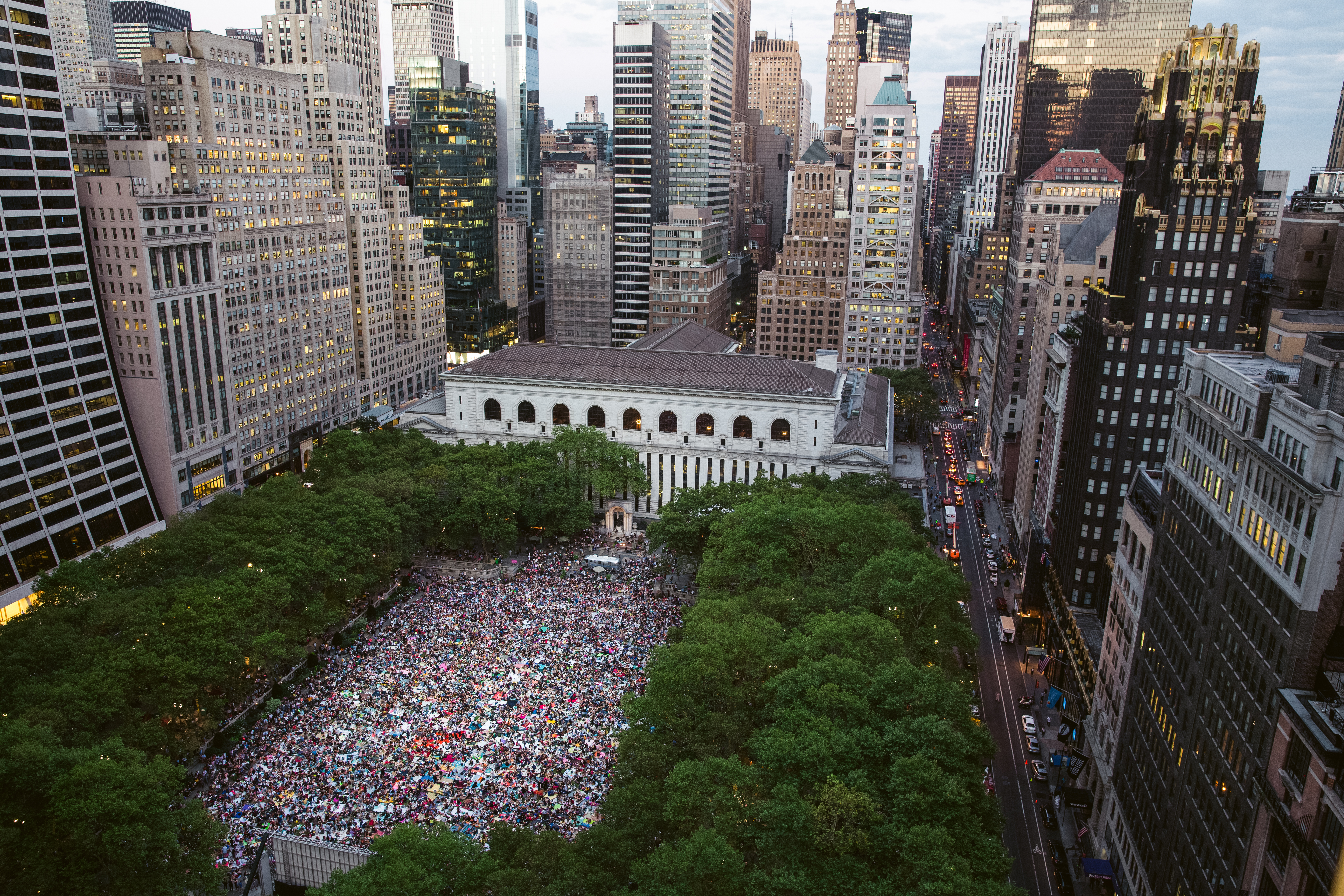 Three million bees were delivered to Bryant Park in Manhattan on Friday,  most for sale but some for the park's apiary. Credit Chang W. Lee/The New  York ...