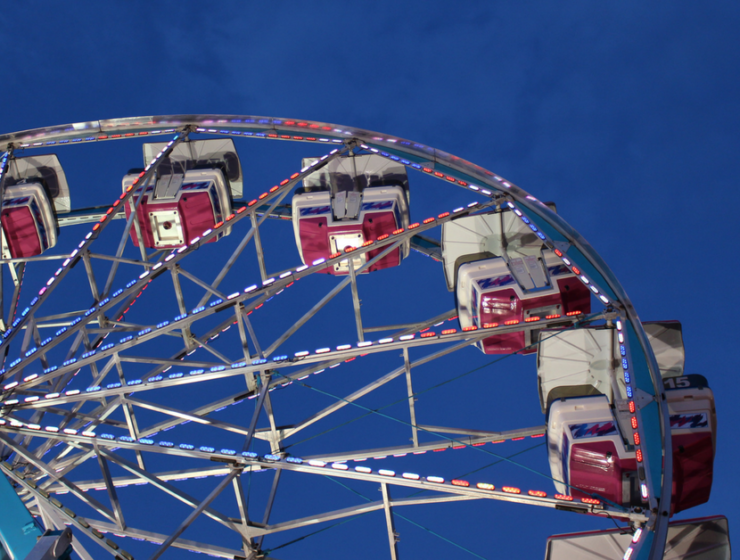 The New York City Fair ferris wheel