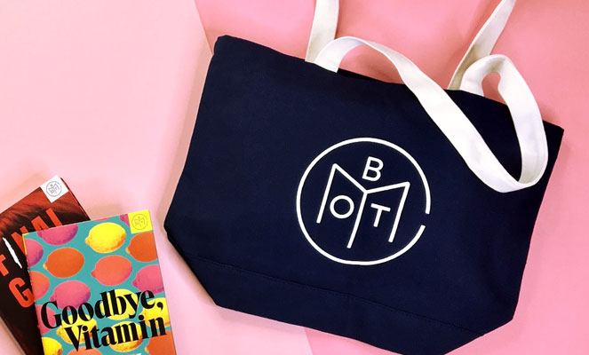 book subscription services Book Club of the Month tote bag