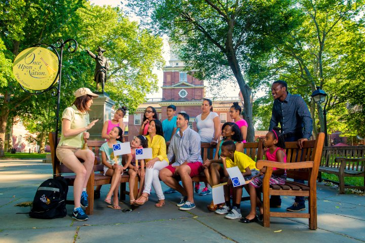 Once Upon a Nation Storytelling Benches Philly with kids