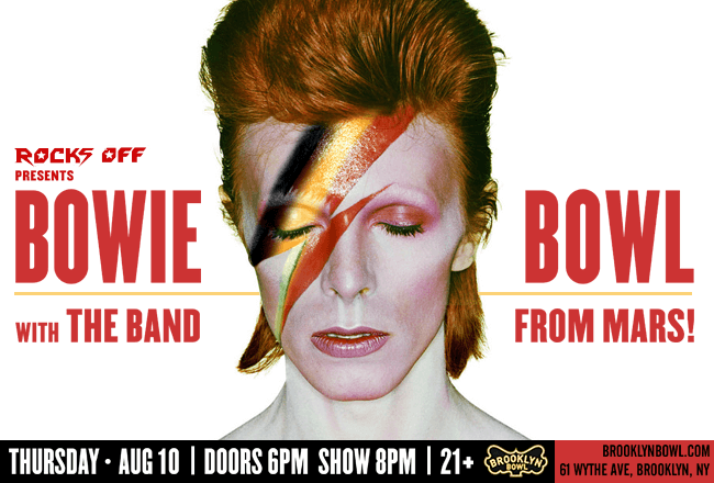 Summer Tribute Nights at Brooklyn Bowl david bowie