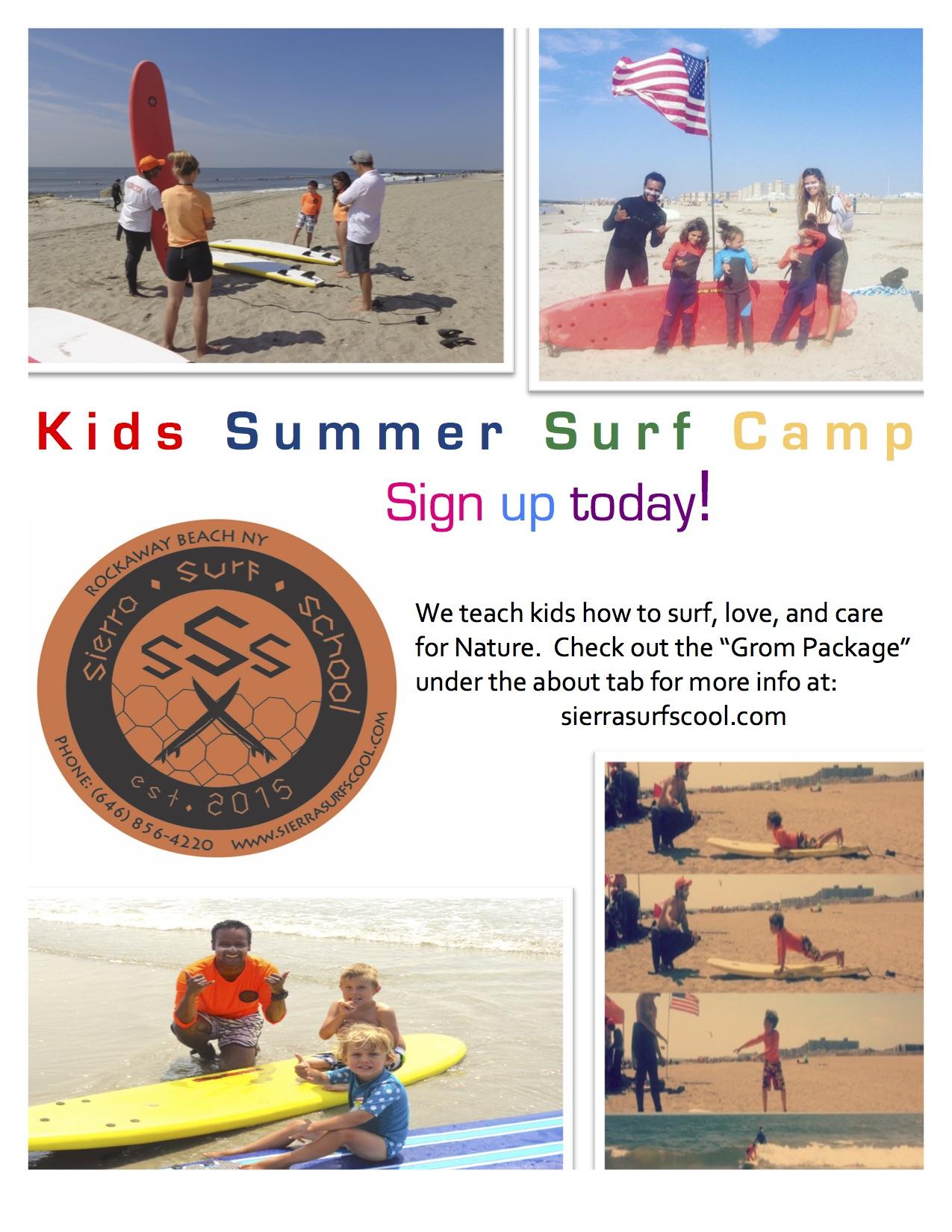 Sierra Surf School kids camp surfing lessons