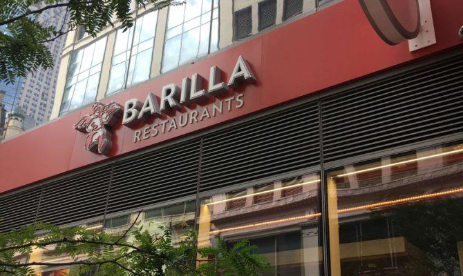 Barilla Restaurants nyc