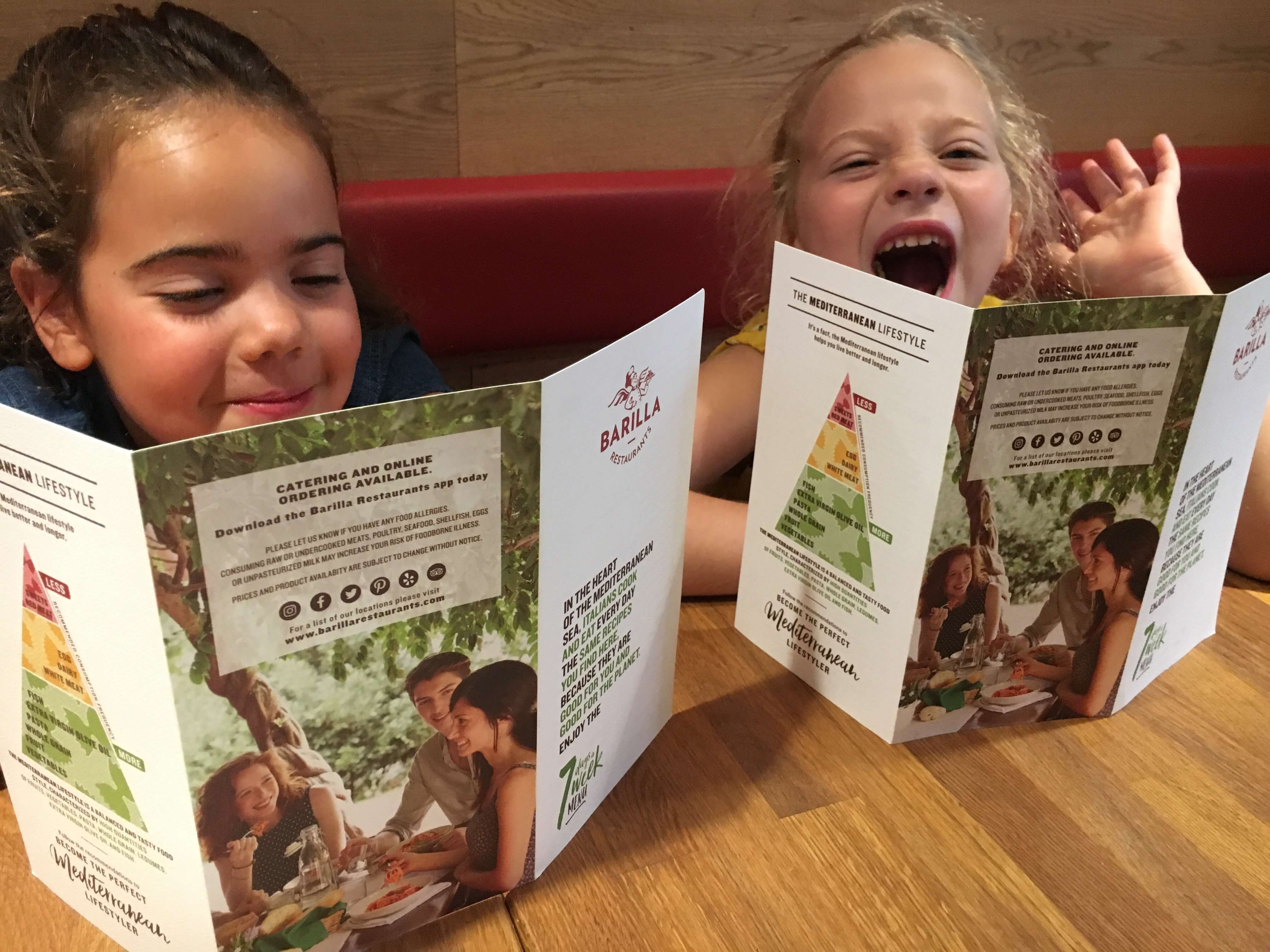 Barilla Restaurants nyc menu