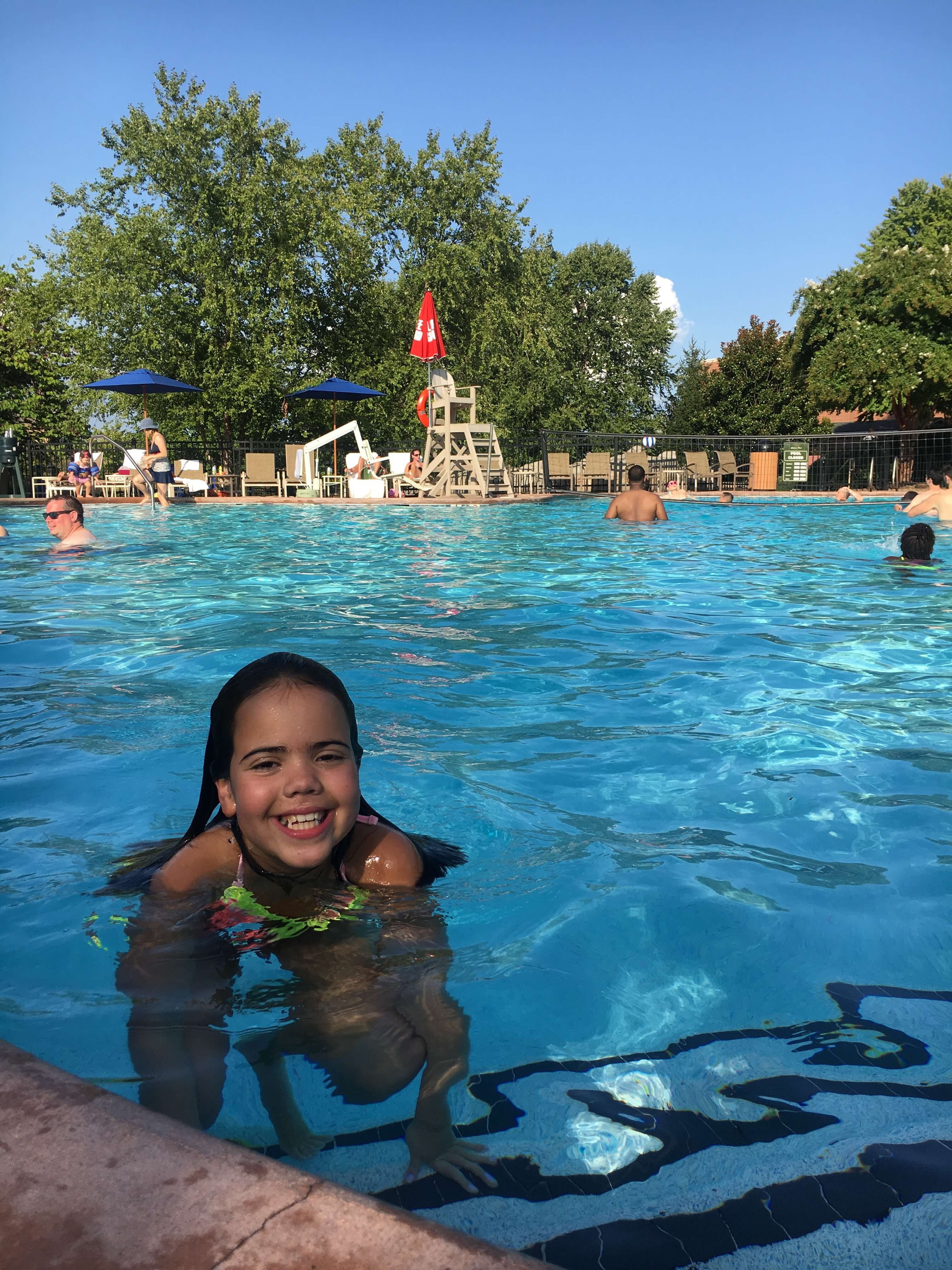 swimming at landsdowne resort and spa
