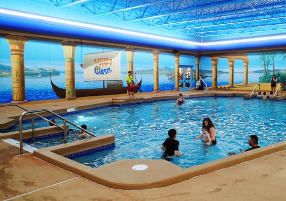 Indoor pool at Sahara Sam's.