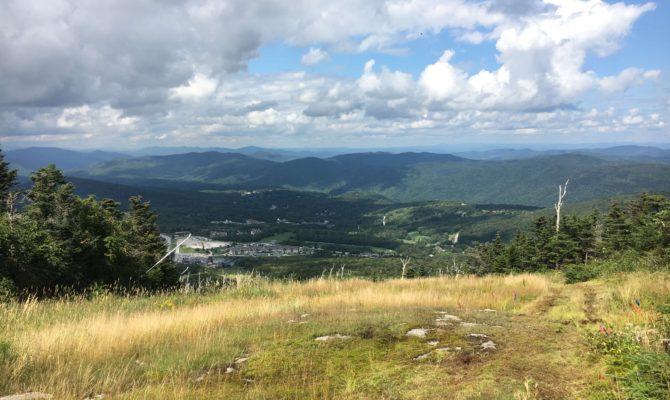 views of killington at ua mountain running