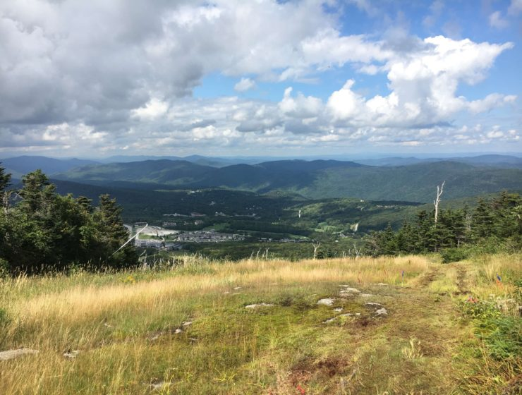 views of killington at ua mountain running