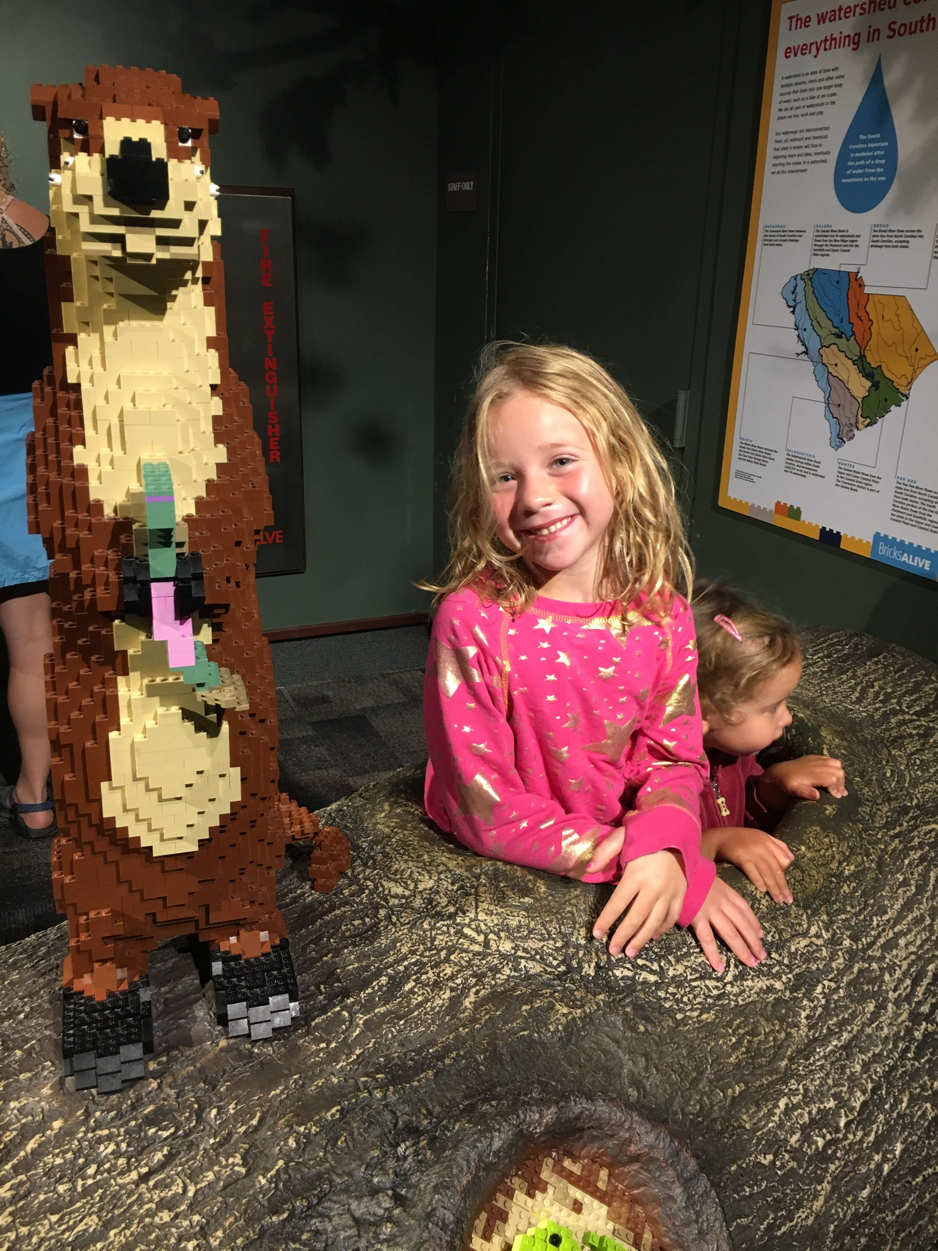 lego magic at snakes at interactive fun South Carolina Aquarium
