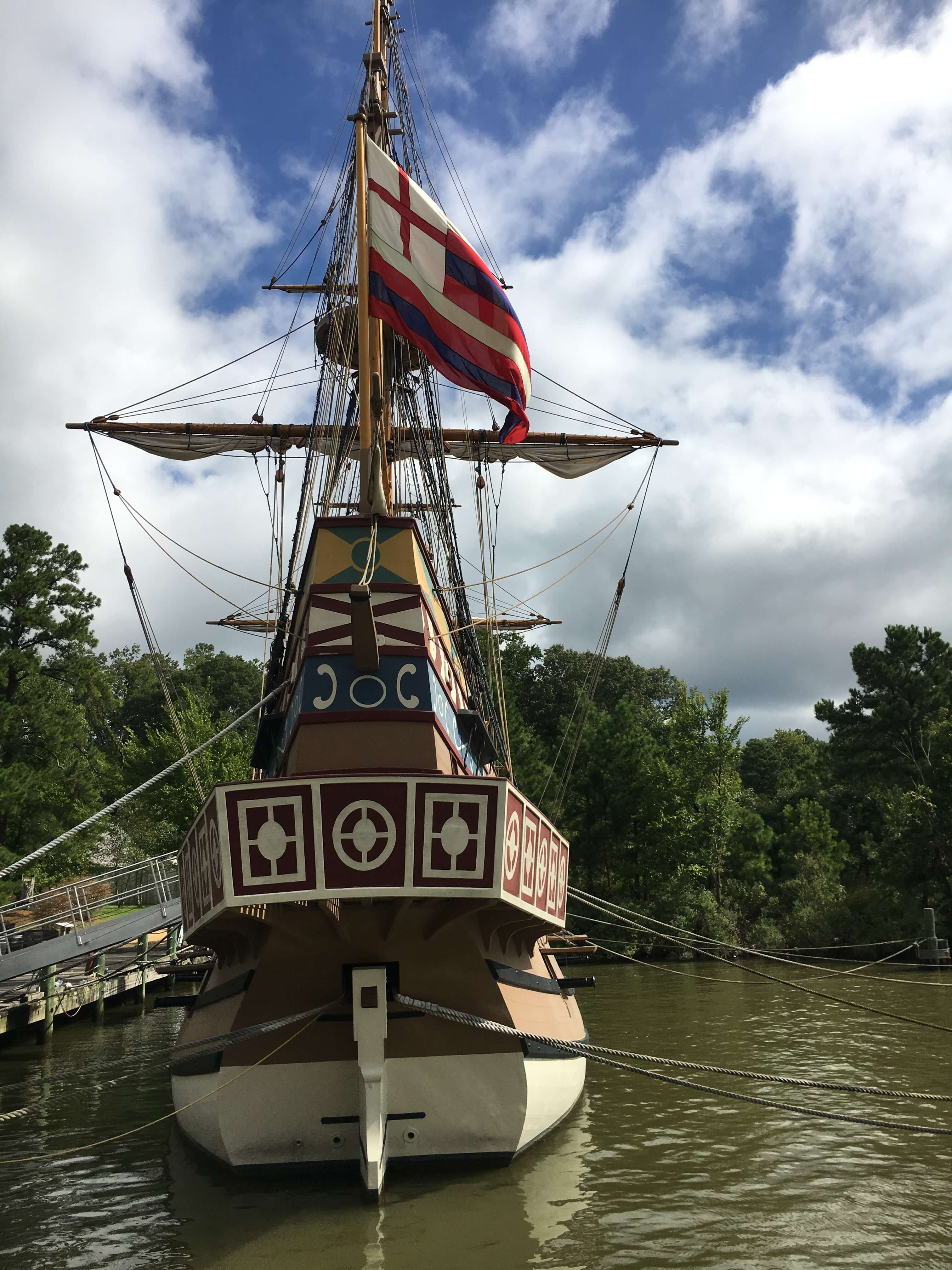 three ships that sailed from England to Virginia in 1607: jamestown