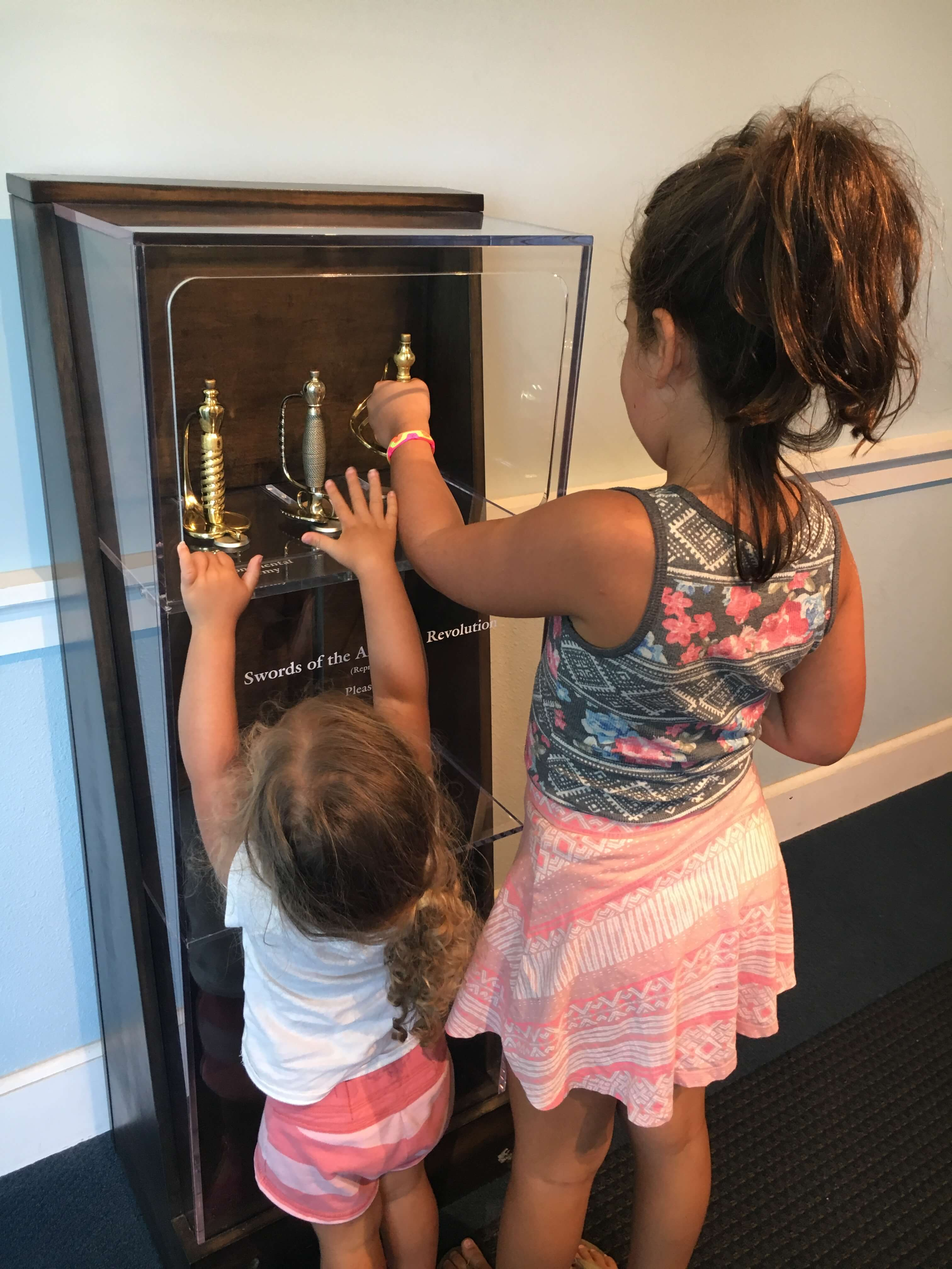 inside american revolution museum williamburg with kids