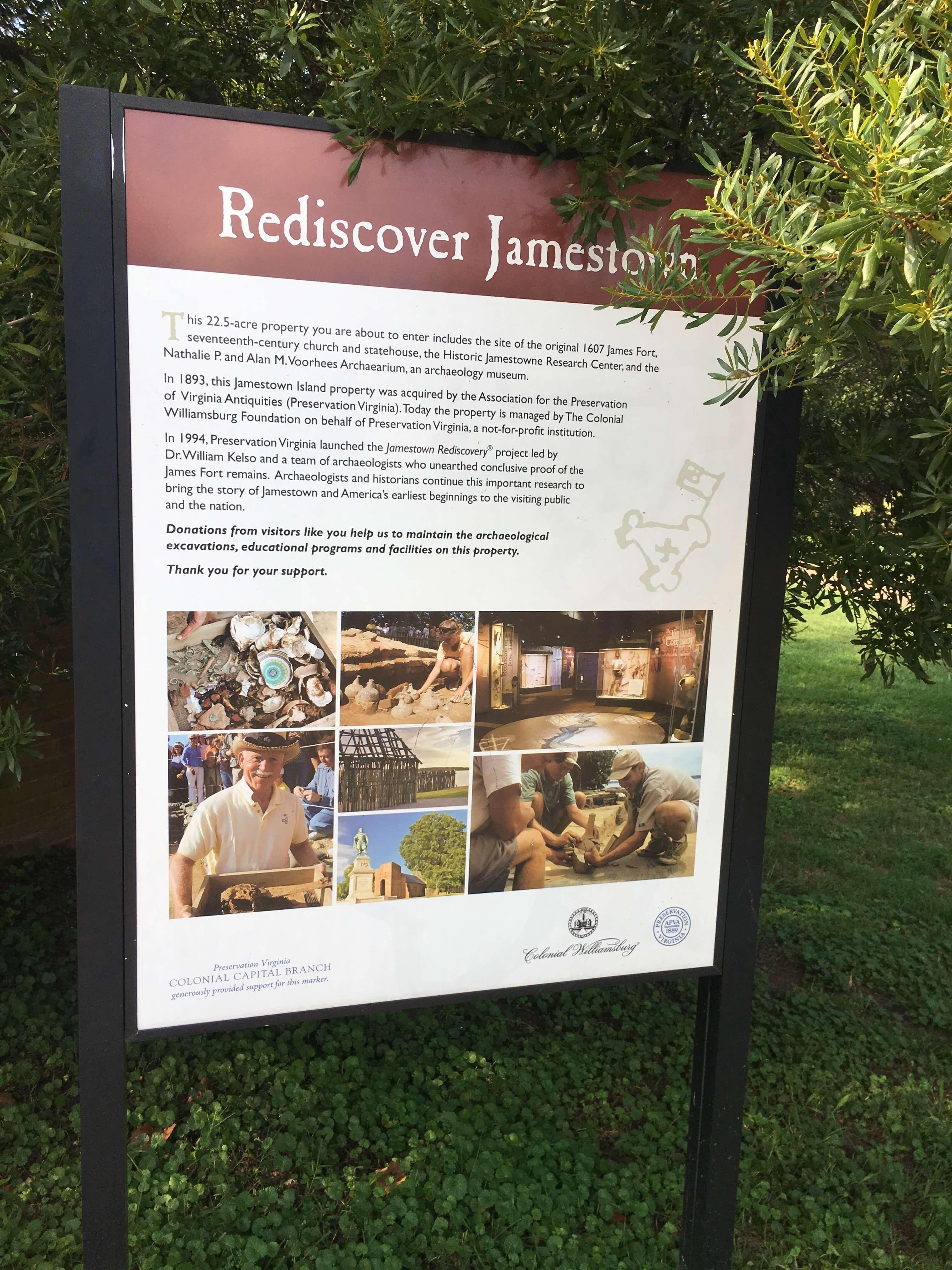 Historic Jamestowne: williamsburg with kids