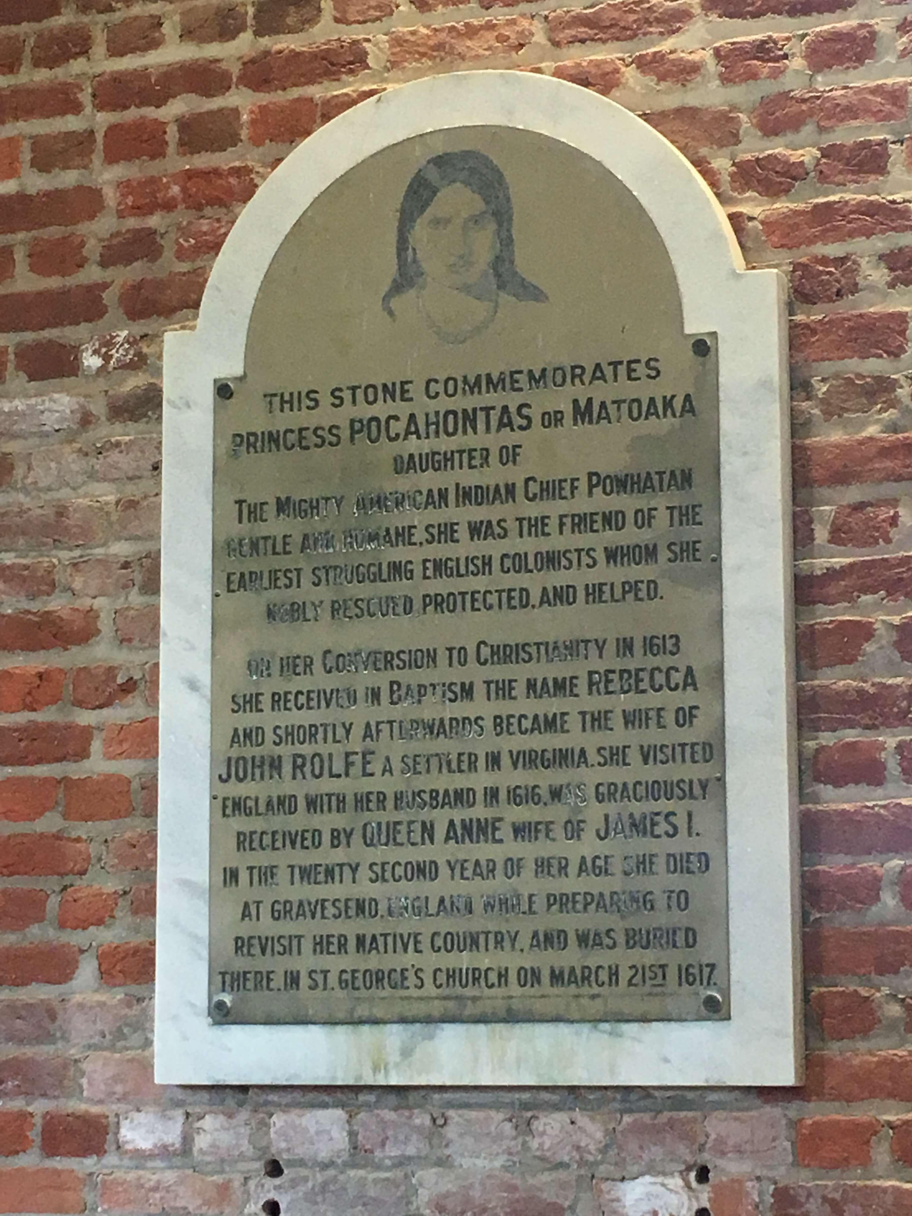 historic jamestown plaque: williamsburg with kids