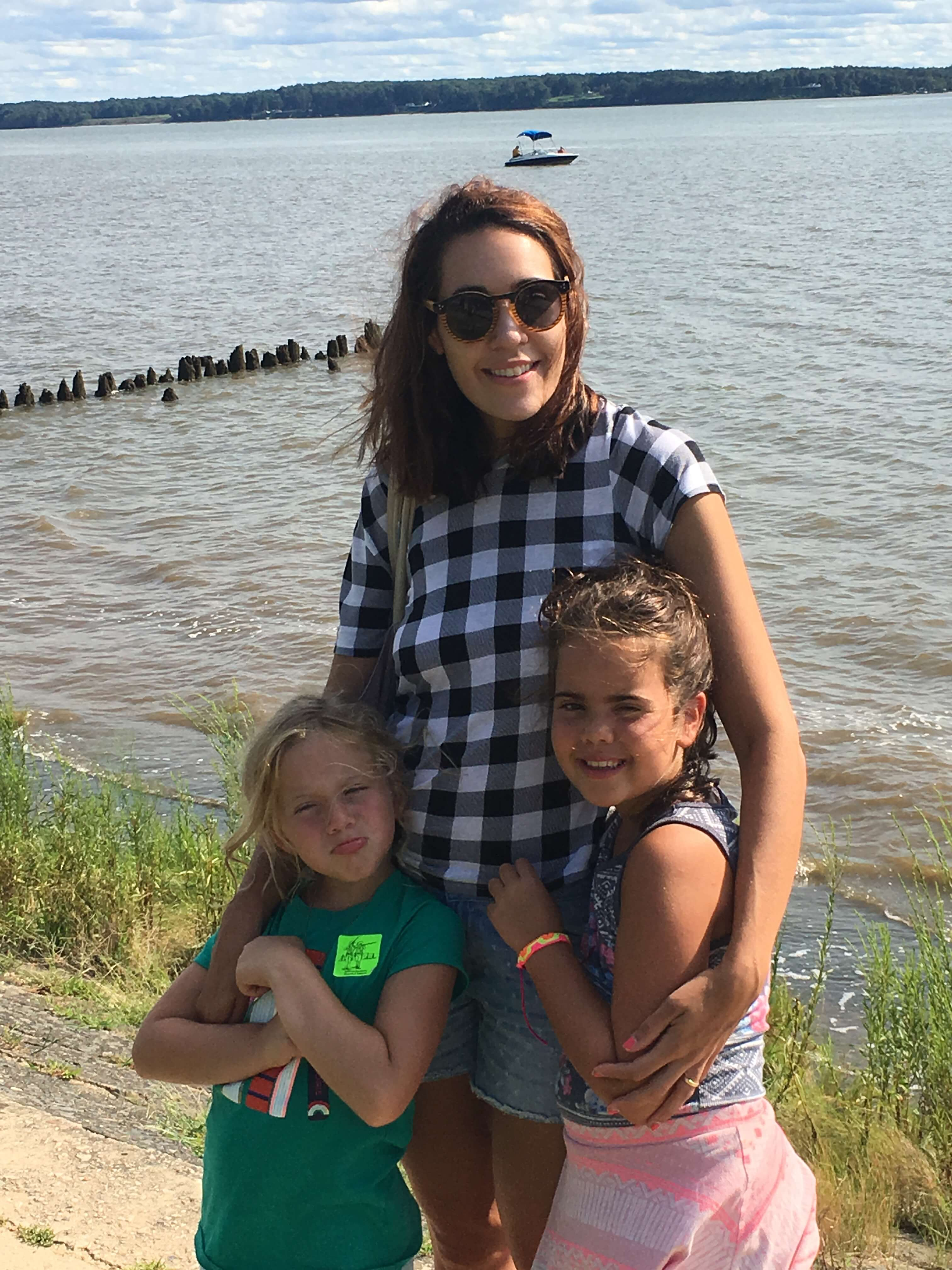 .Historic Jamestowne water with kids