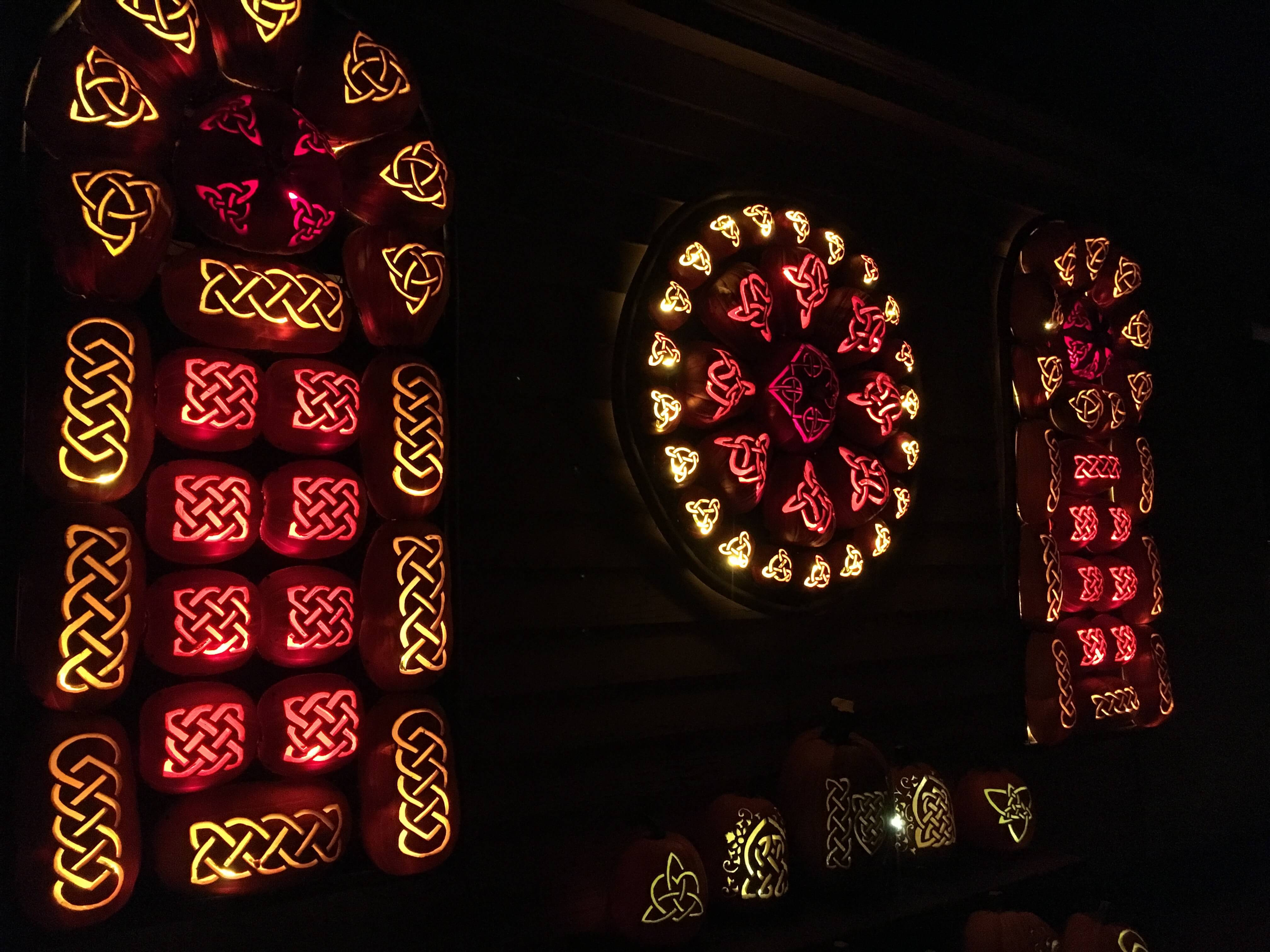 celtic pumpkins Getting Psyched for Halloween at the Great Jack O'Lantern Blaze