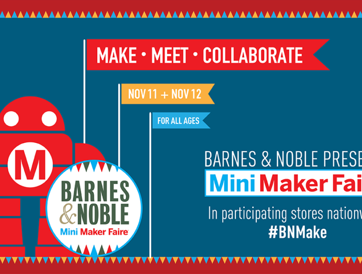 mini maker faire in NYC at Barnes and Noble