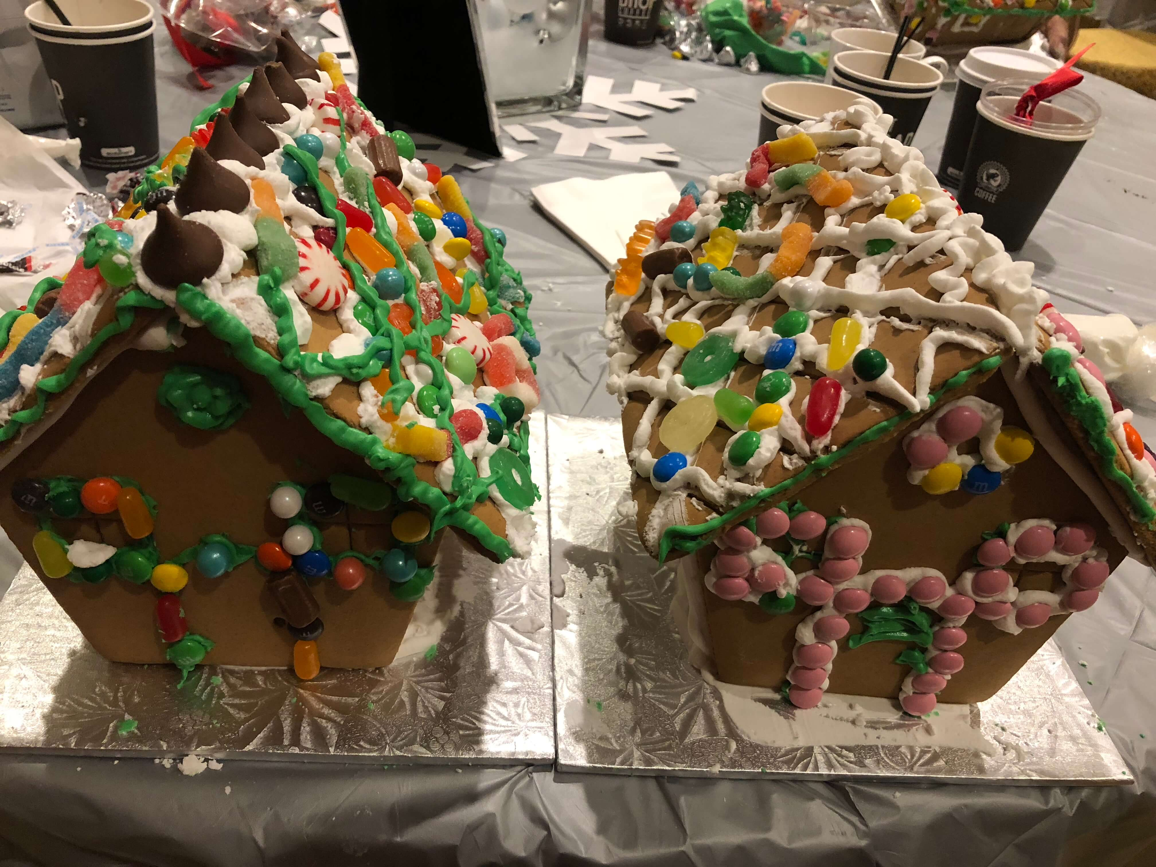 gingerbread house decorating adding icing and candy westchester events