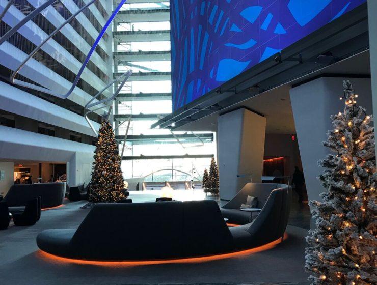 Holiday Fun at the Conrad Hotel lobby