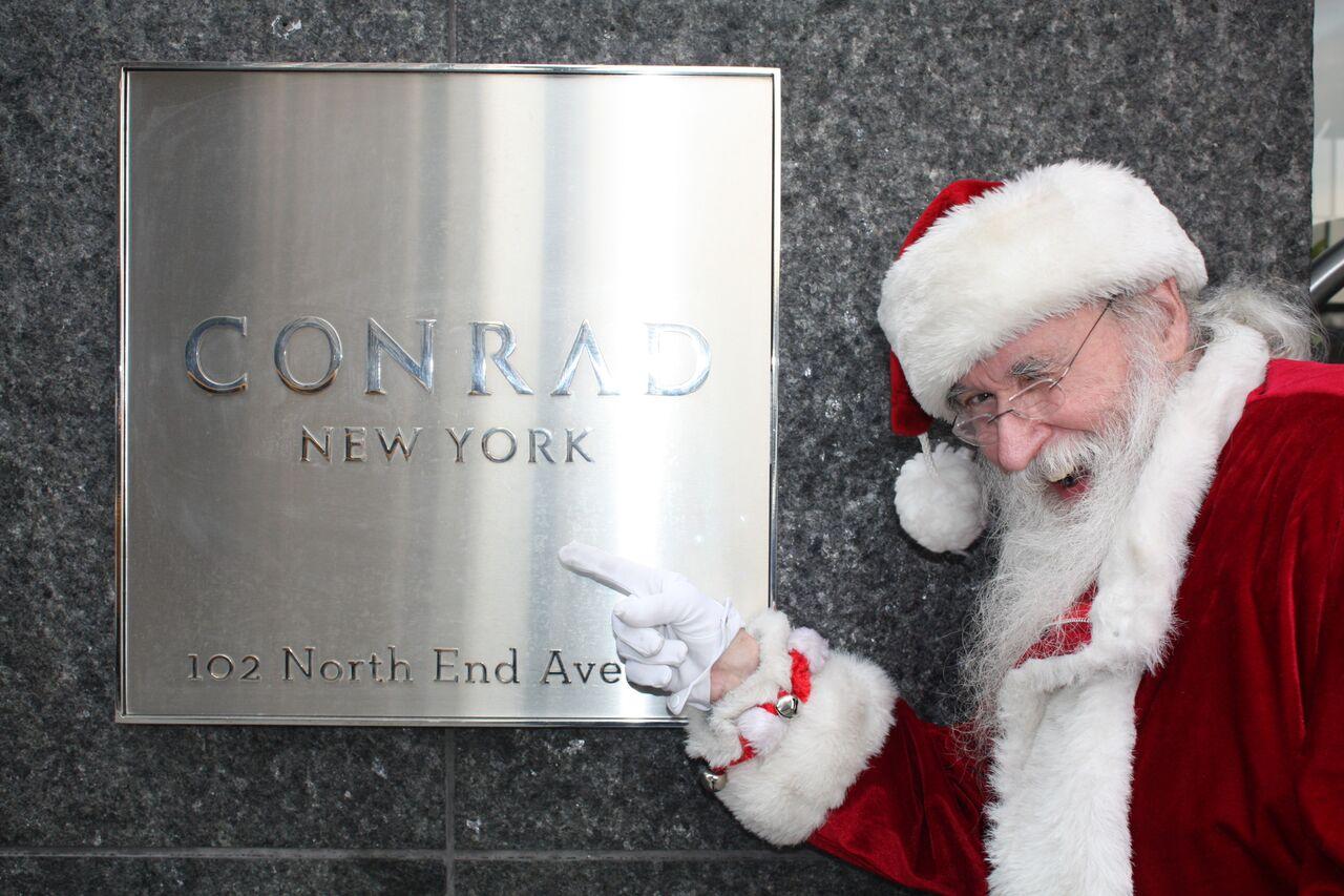 conrad hotel events in NYC with santa