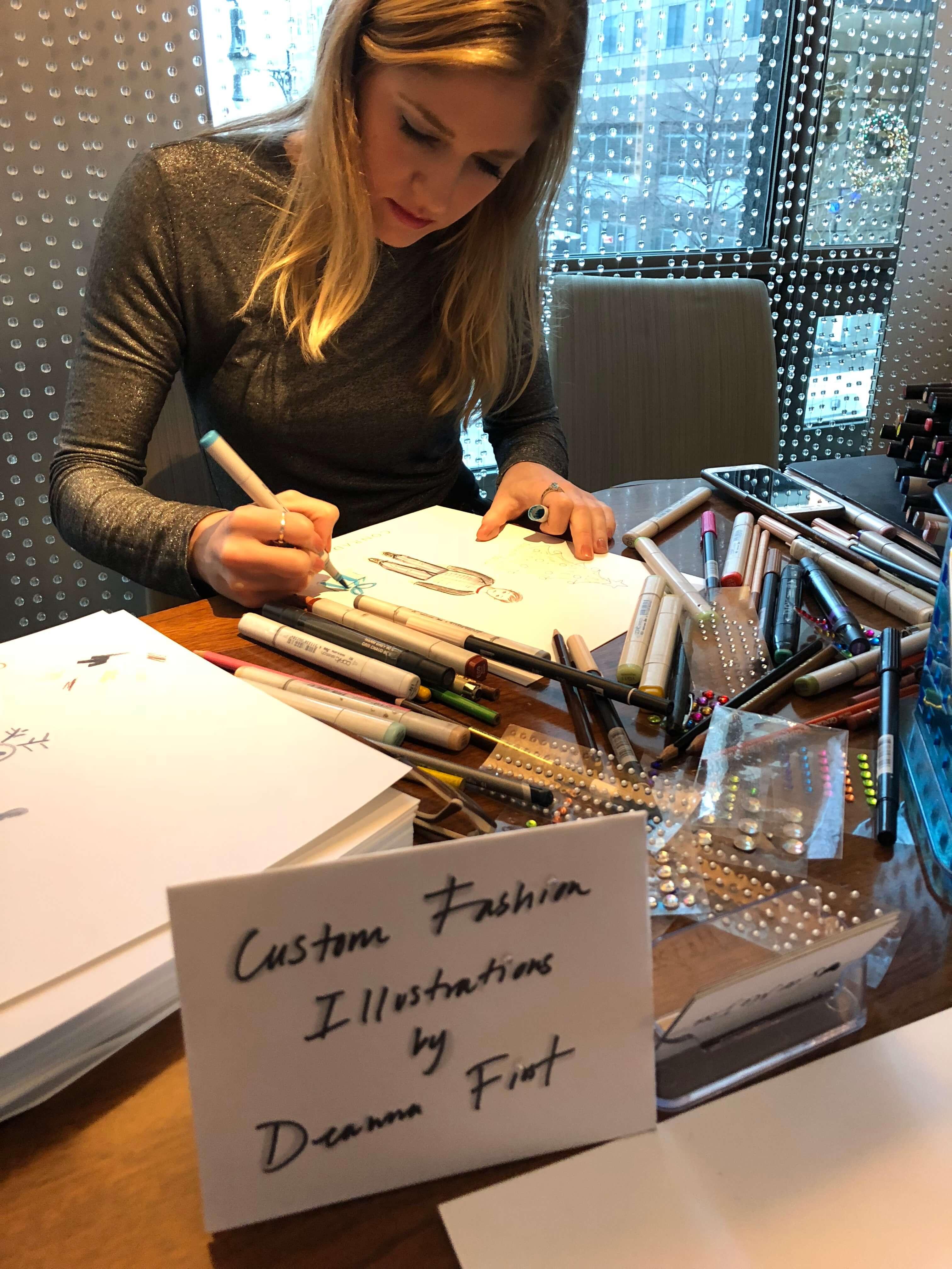 holiday fun and illustrations at the conrad new york
