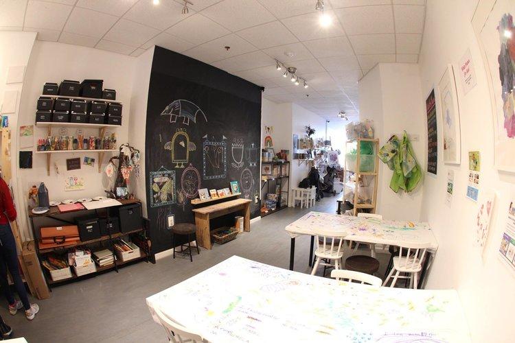valentine printmaking workshop for families in brooklyn