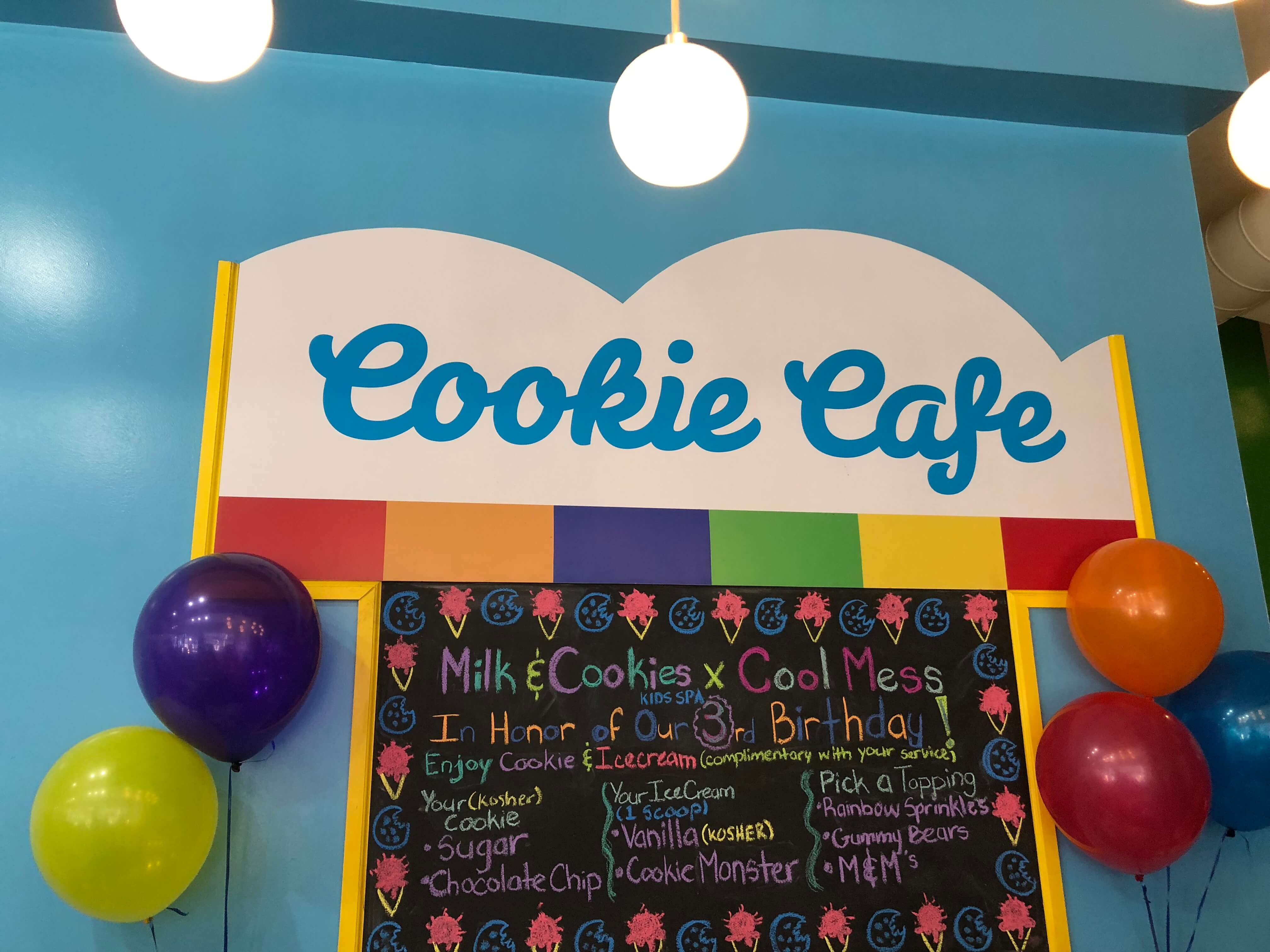 Party and Pampering at The Milk & Cookies Kids Spa cookie cafe