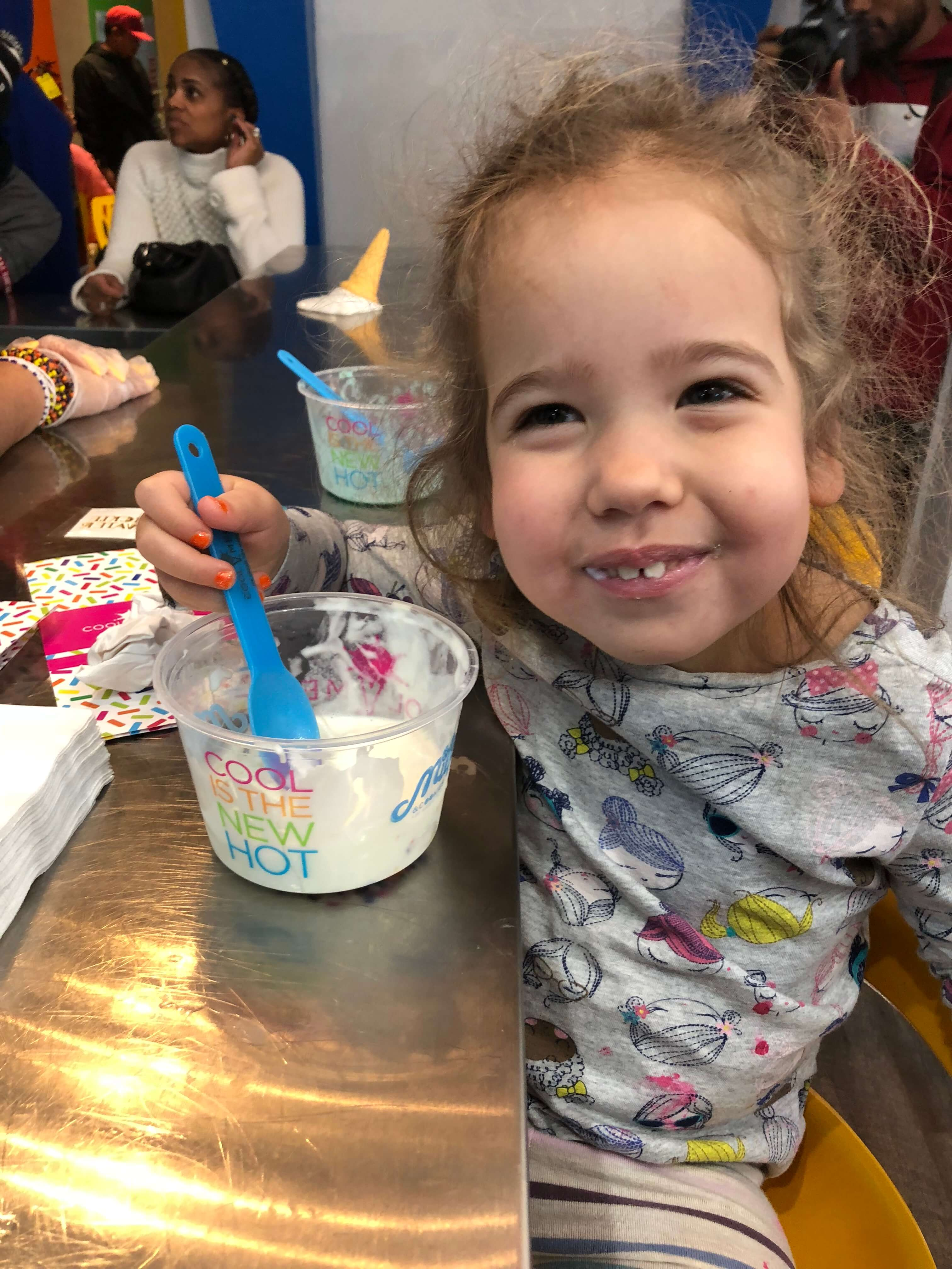 Party and Pampering at The Milk & Cookies Kids Spa ice cream