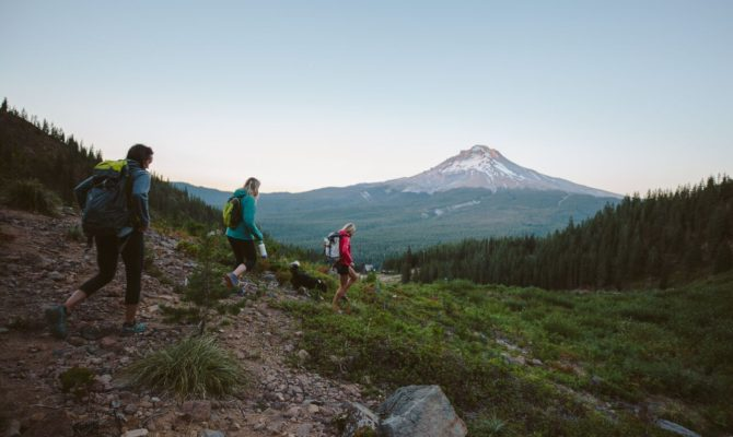 REI Outessa retreats in the mountains