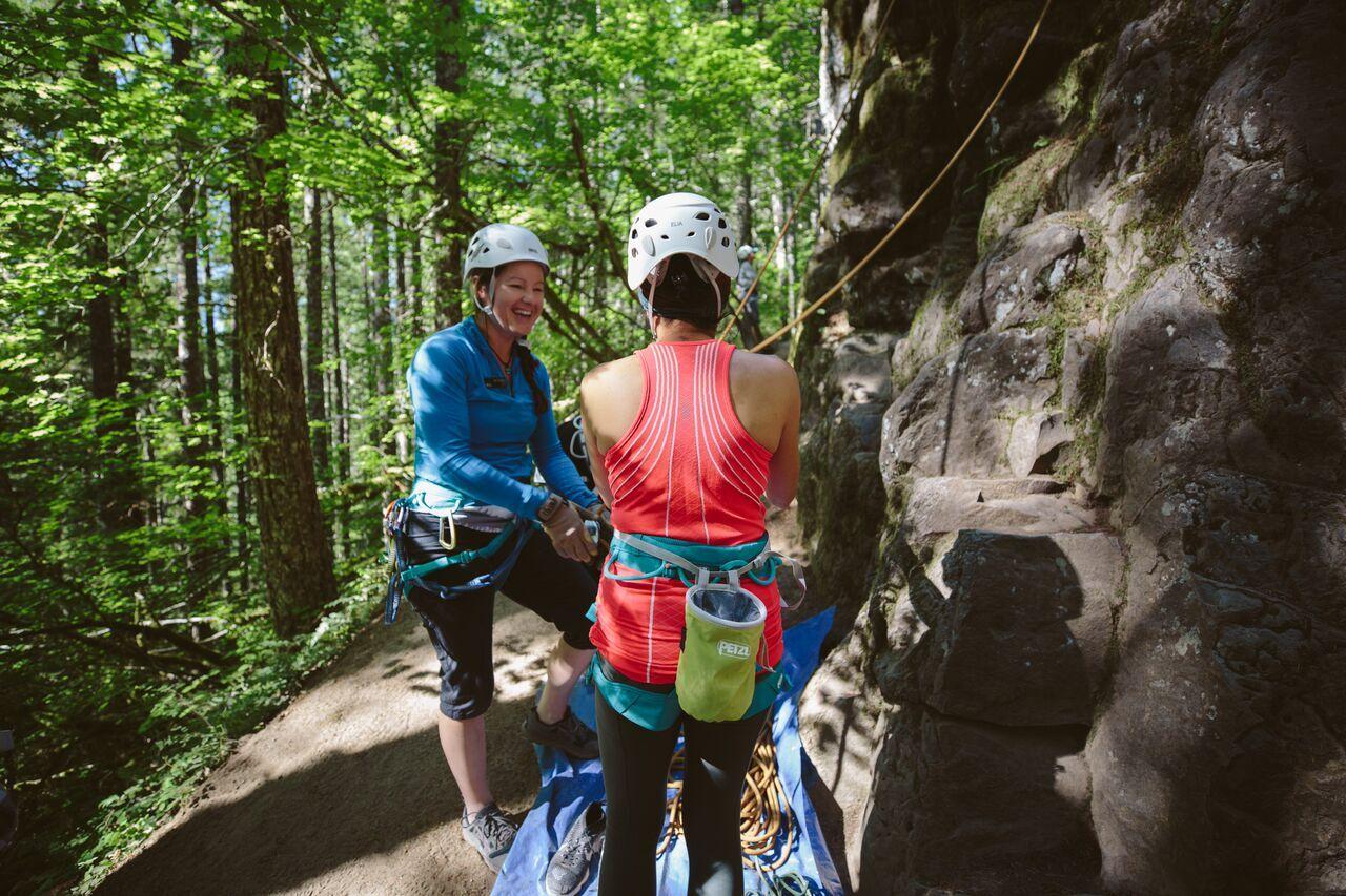 REI Outessa climbing
