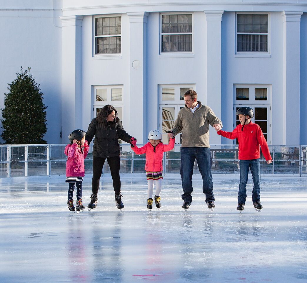 ice skating Wintertime at The Greenbrier