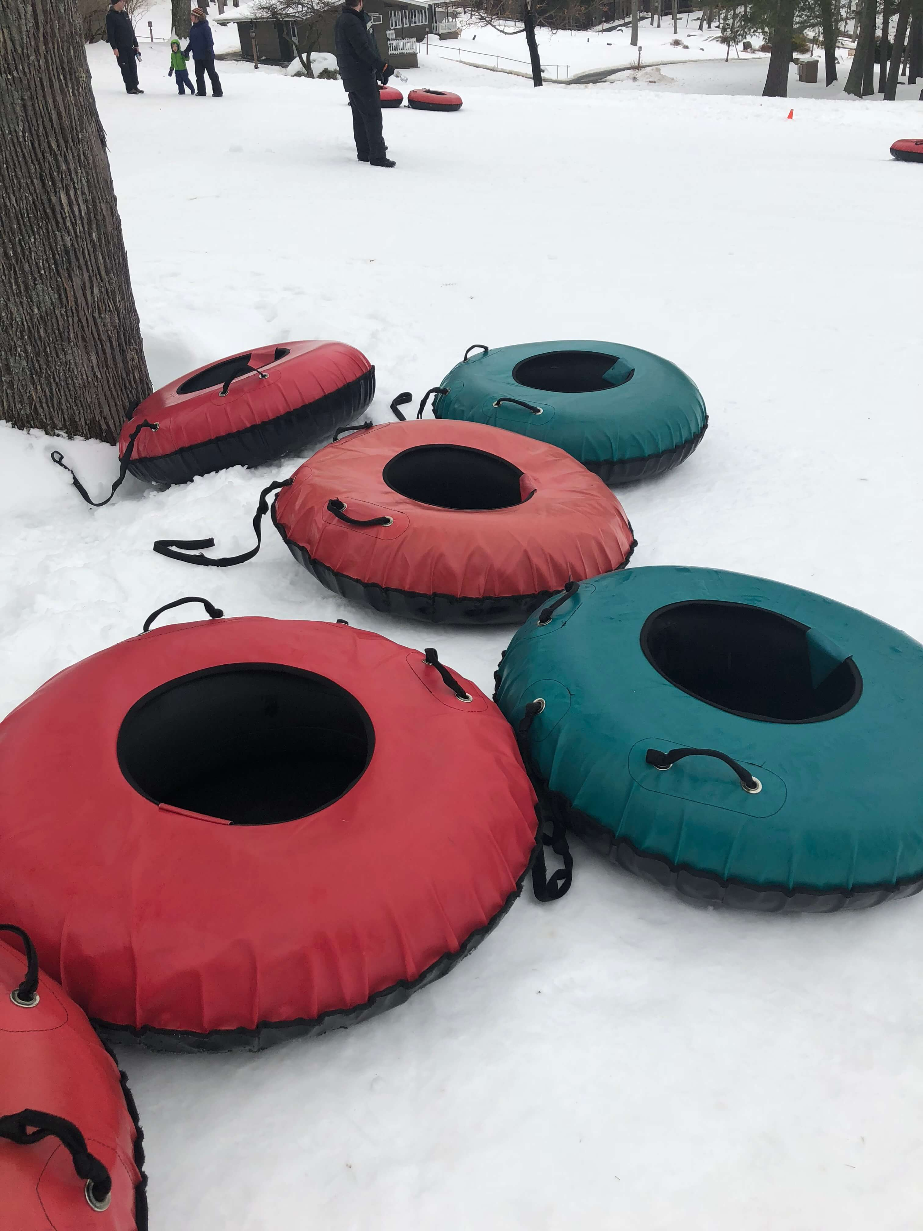 snow tubing for families at woodloch