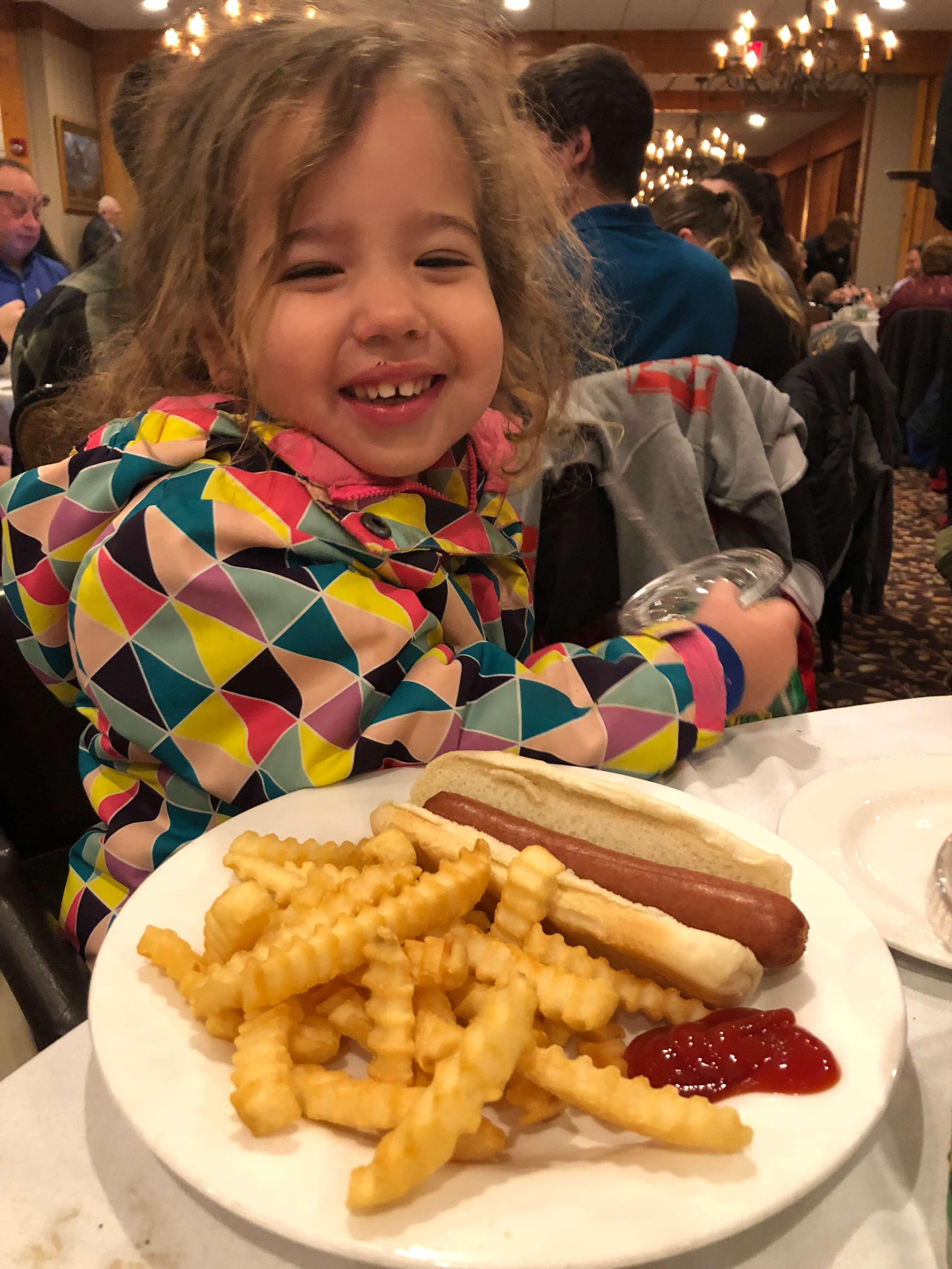 food at woodloch hot dog