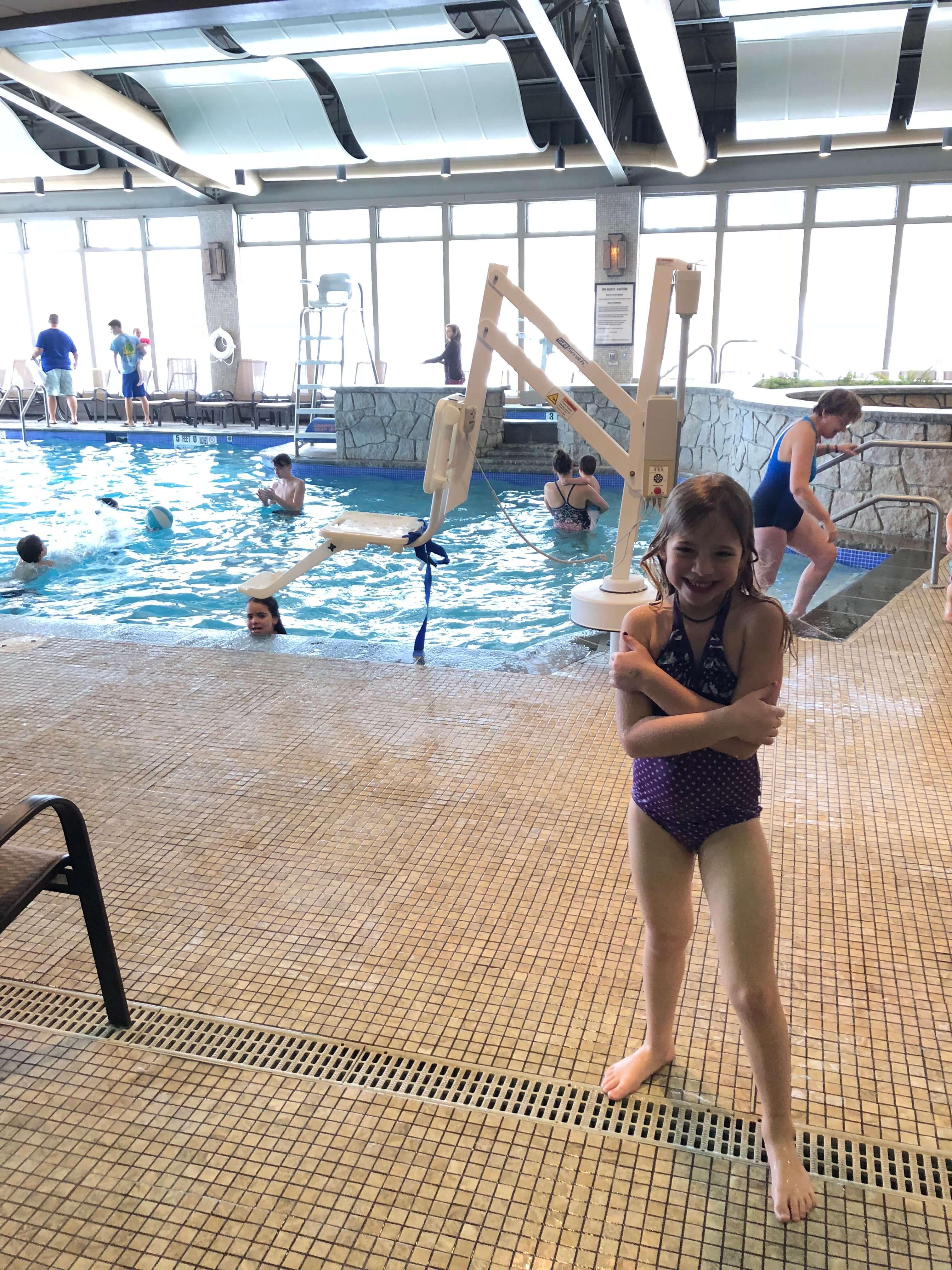 big kid pool at woodloch