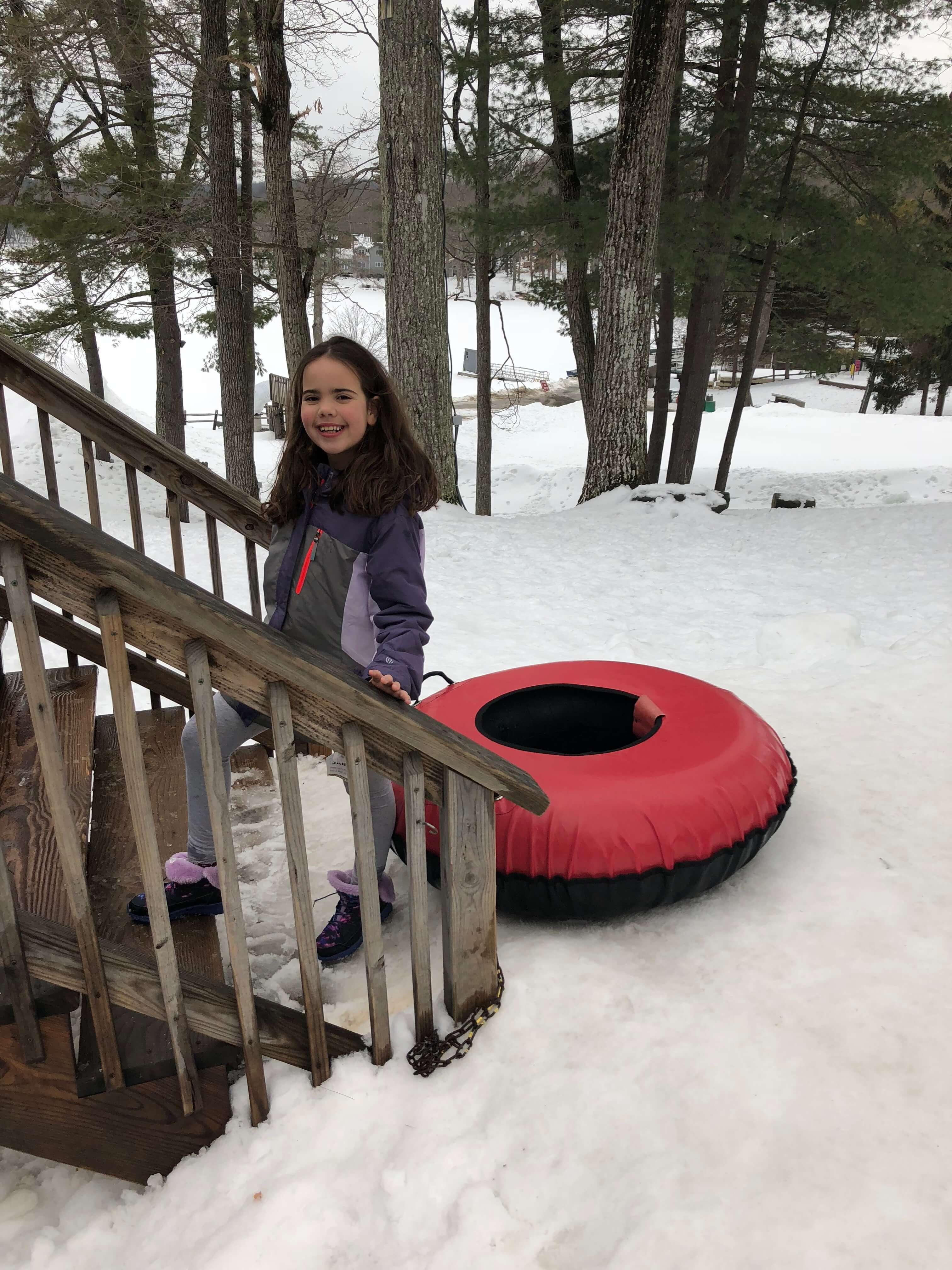 snow tubing fun at woodloch