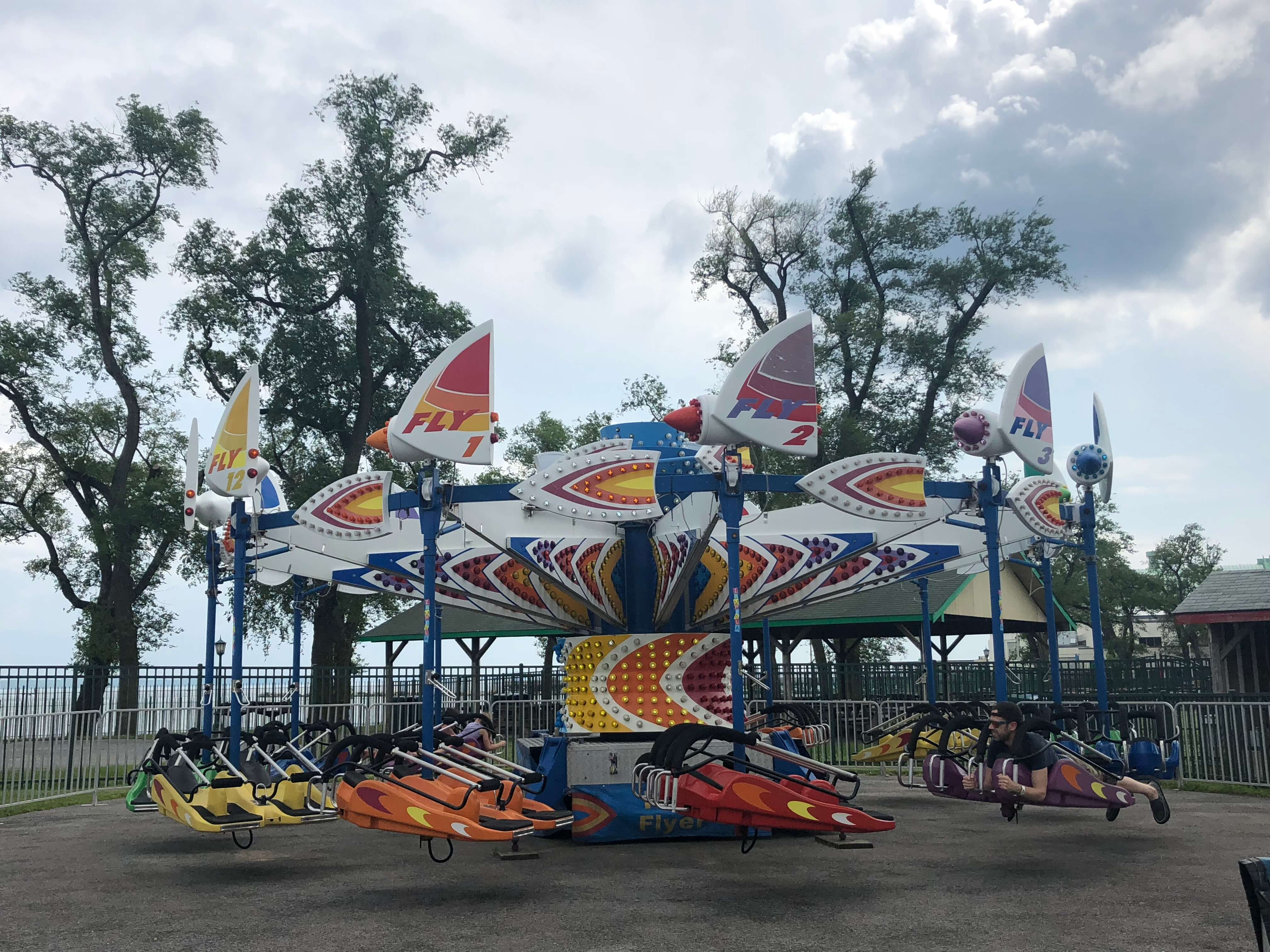 Summer Fun at Playland thrill rides