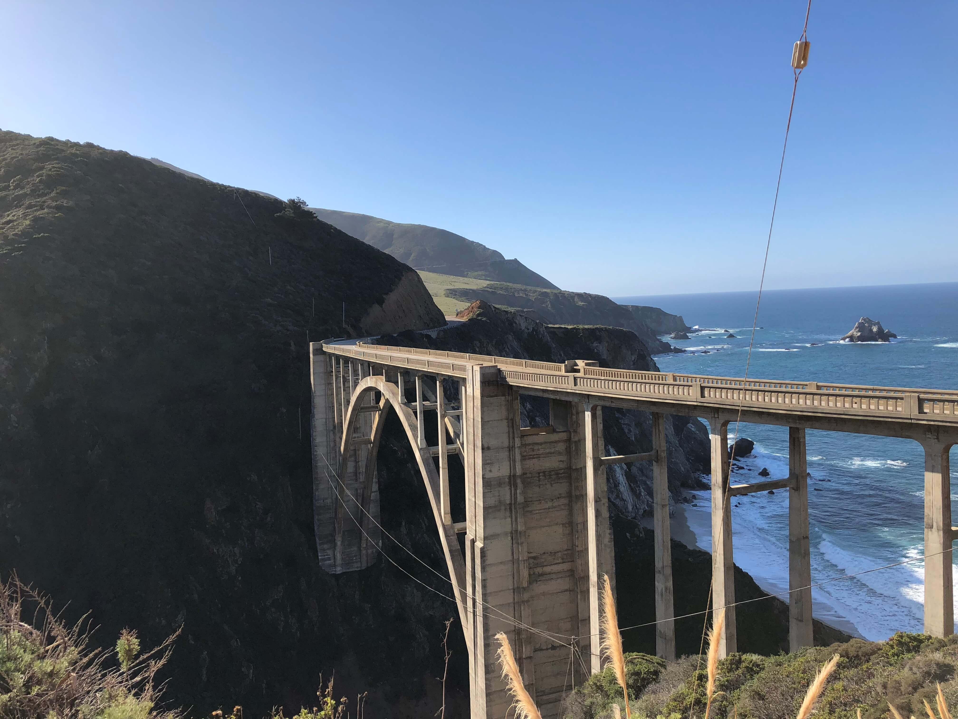 big sur in california bixby bridge