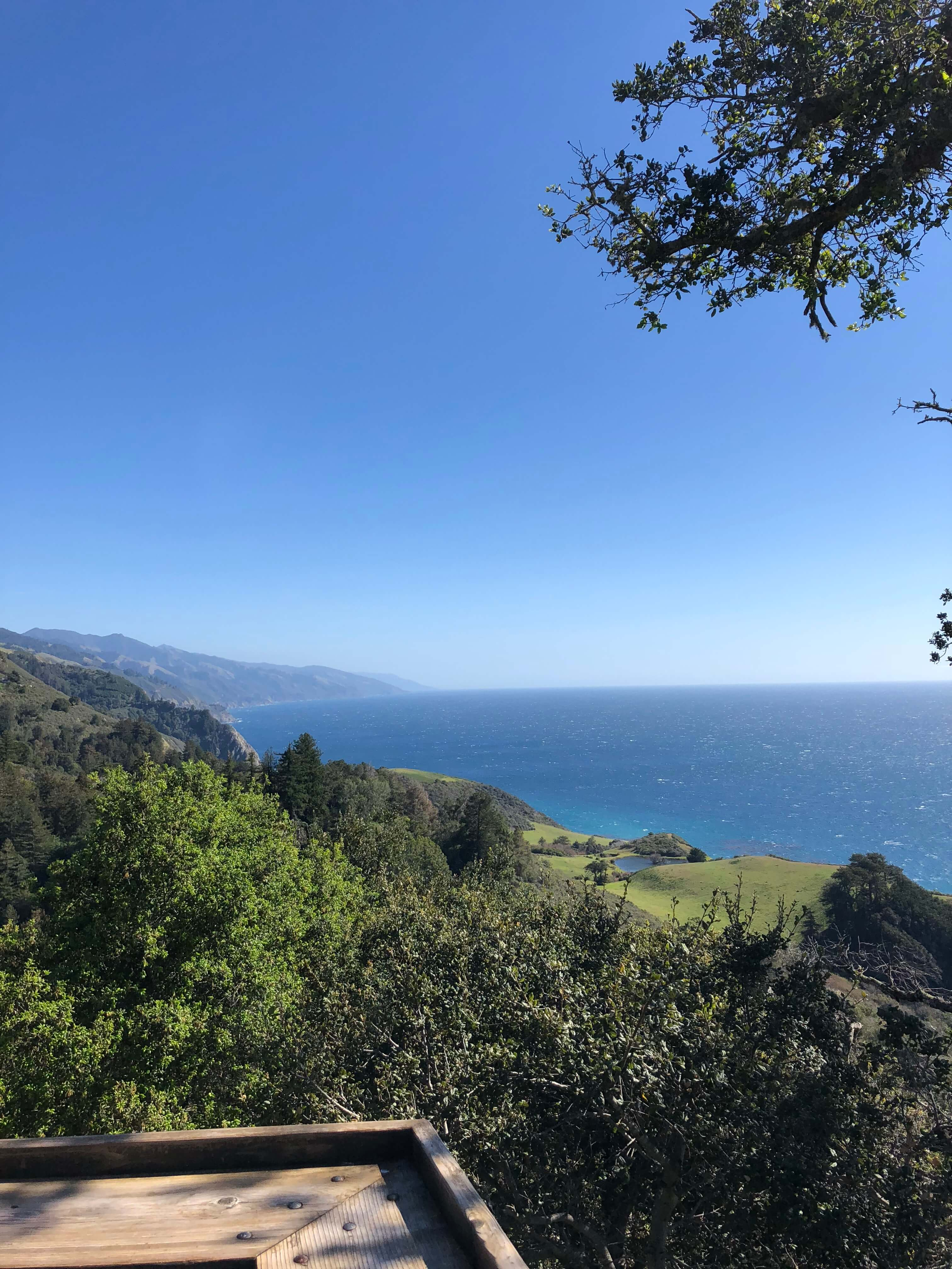 view at Highway 1 to drive to Nepenthe/Phoenix/Cafe Kevah big sur