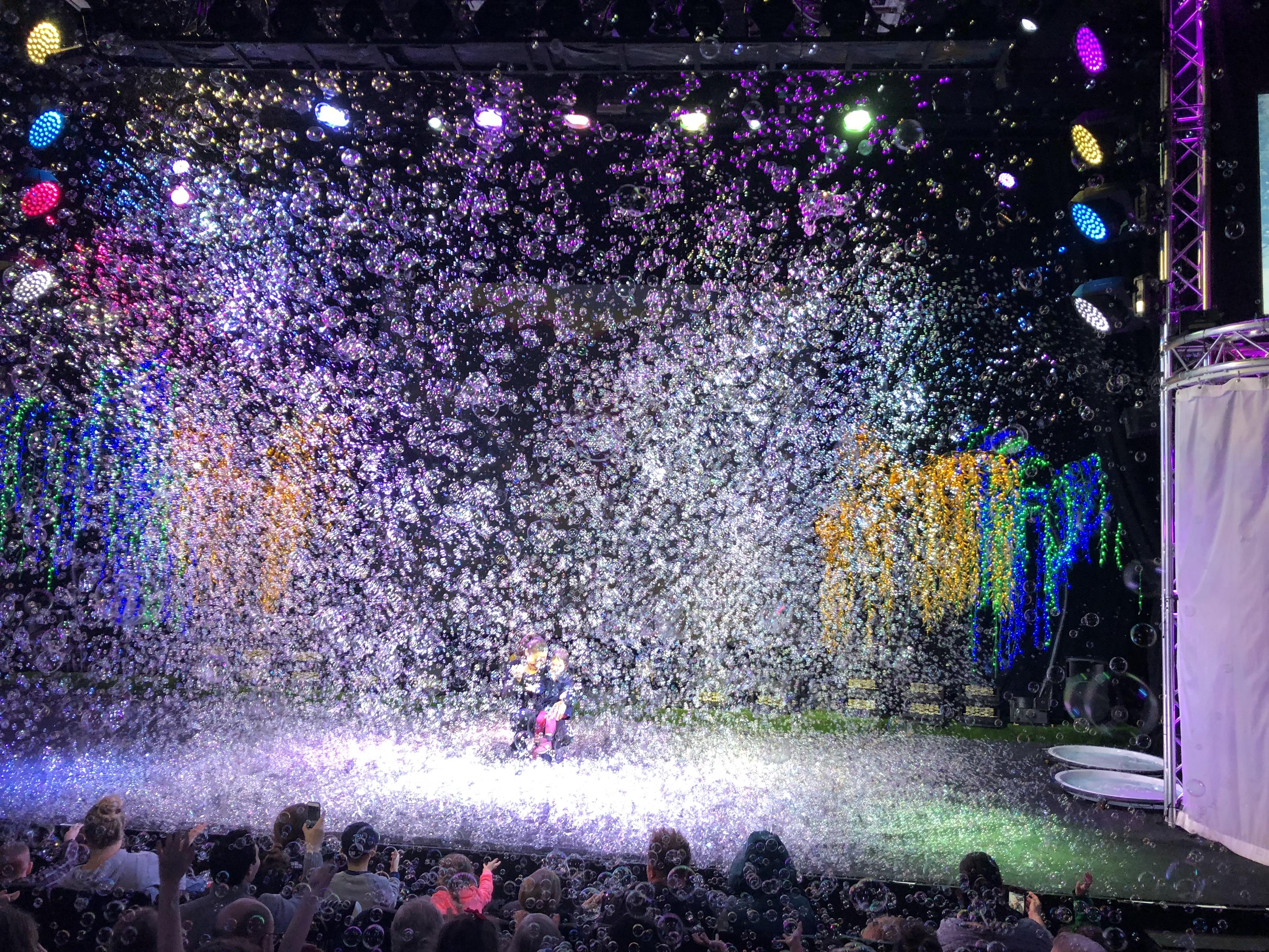 Gazillion Bubble Show bubble snow