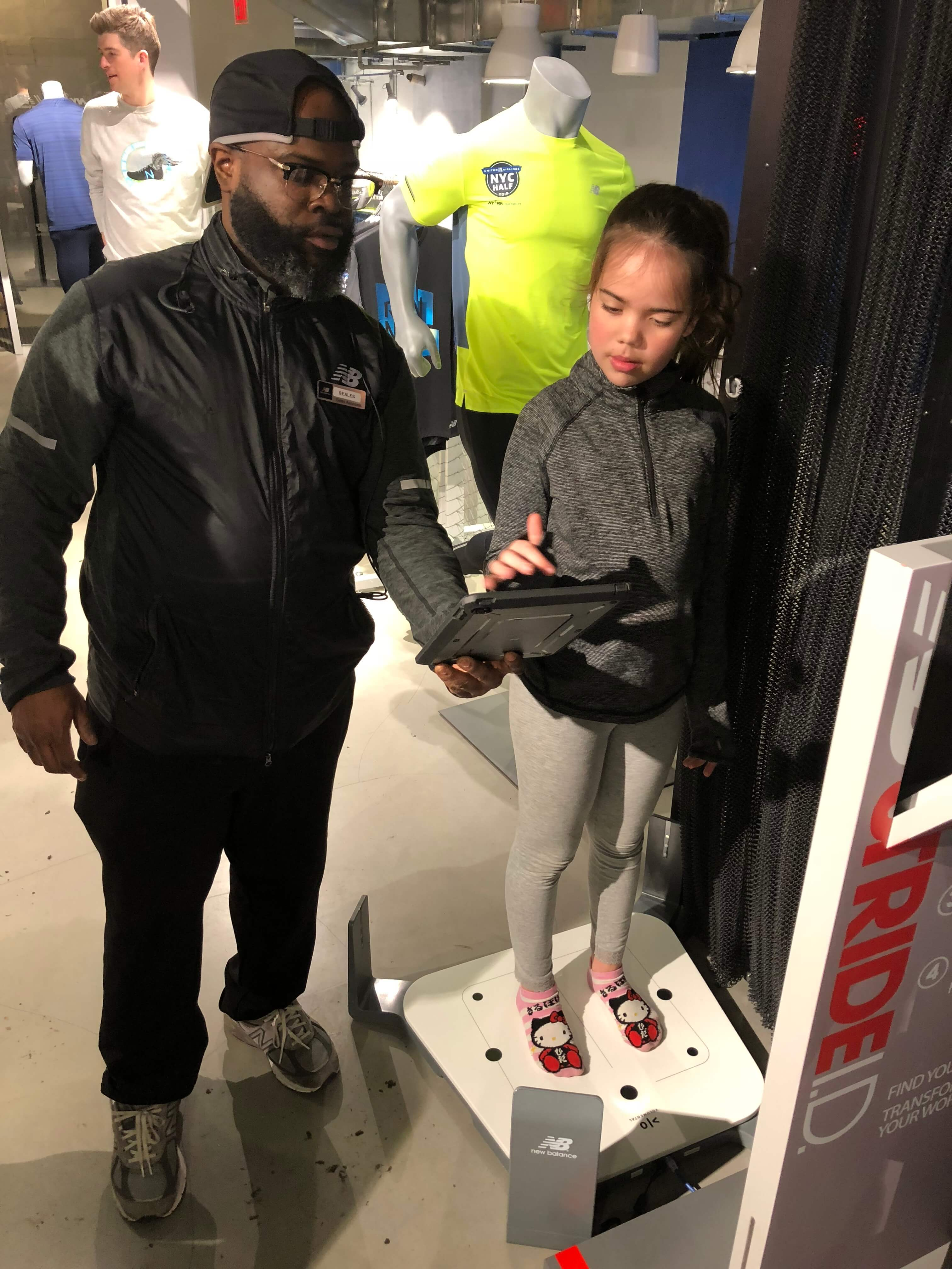 Rising New York Road Runners program and shoe fittings with new balance