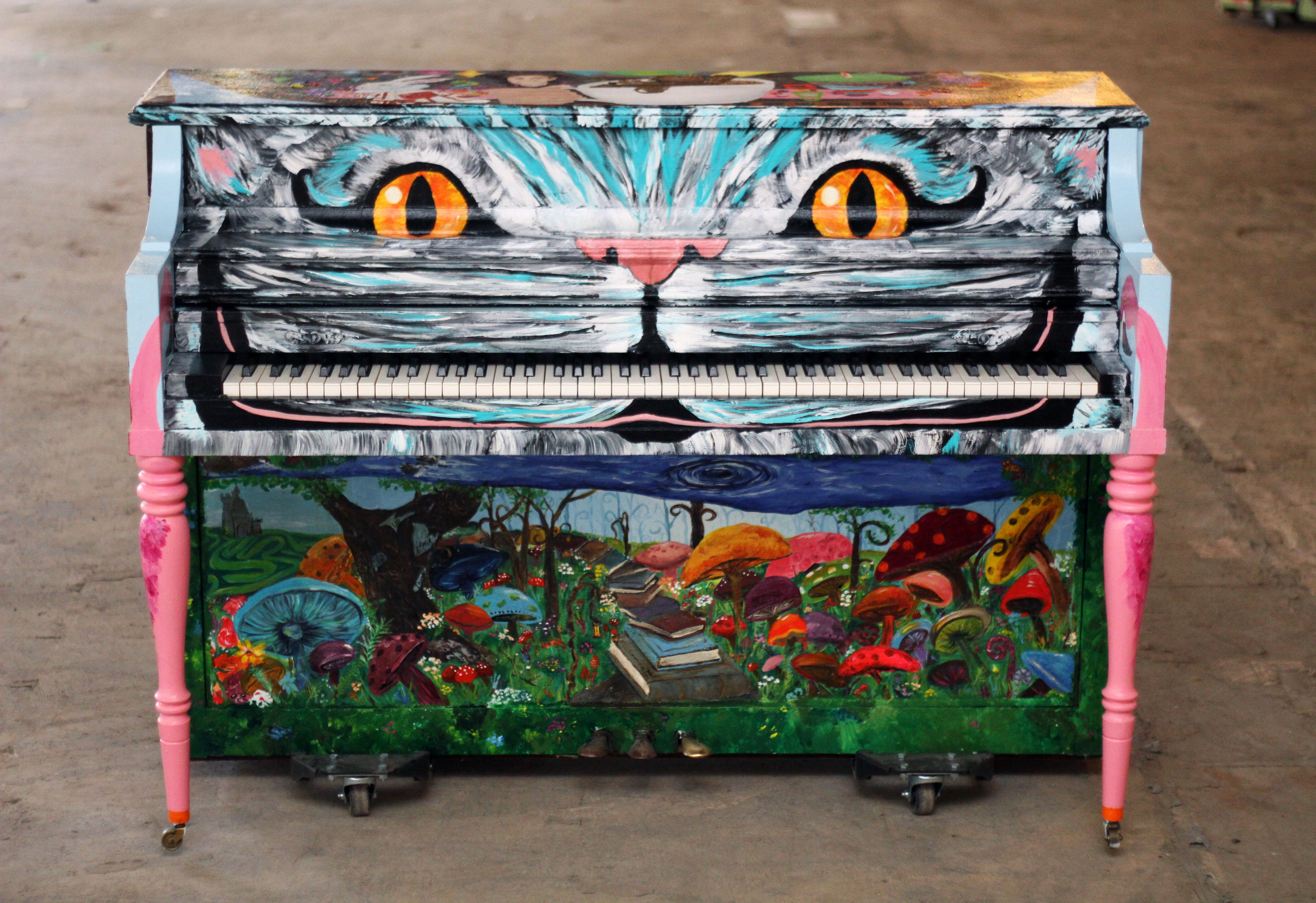 2018 Sing for Hope Pianos cat piano