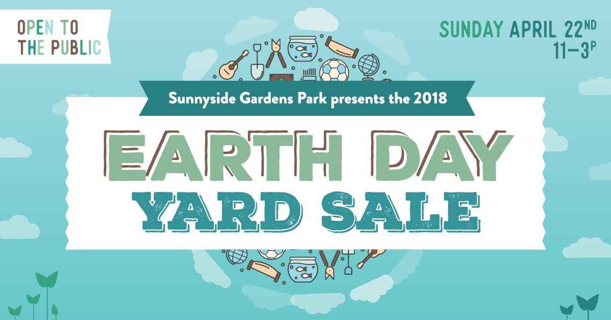 earth day in nyc at Community Yard Sale at Sunnyside Gardens Park