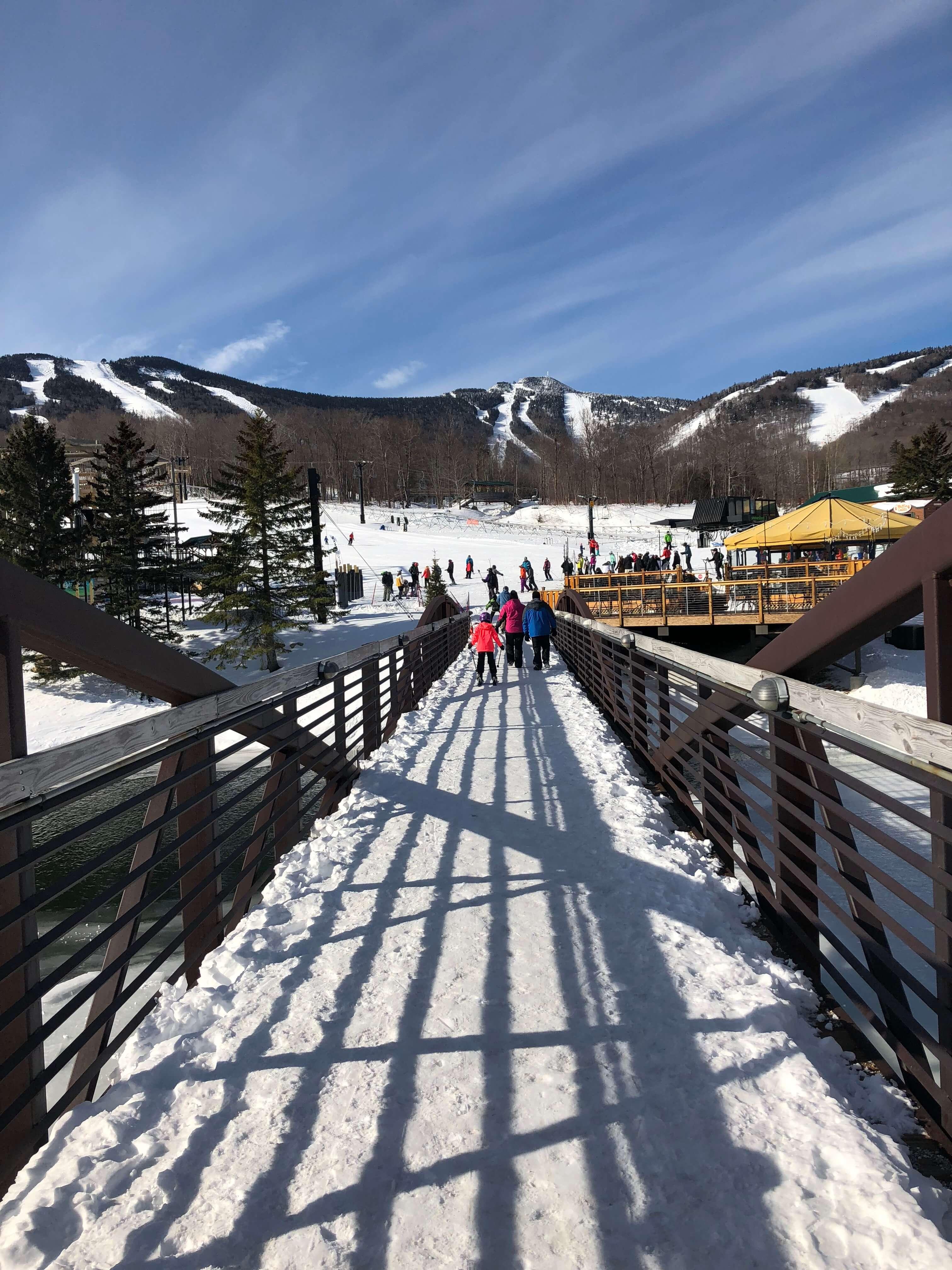 Killington Resort bridge learning to ski as an adult