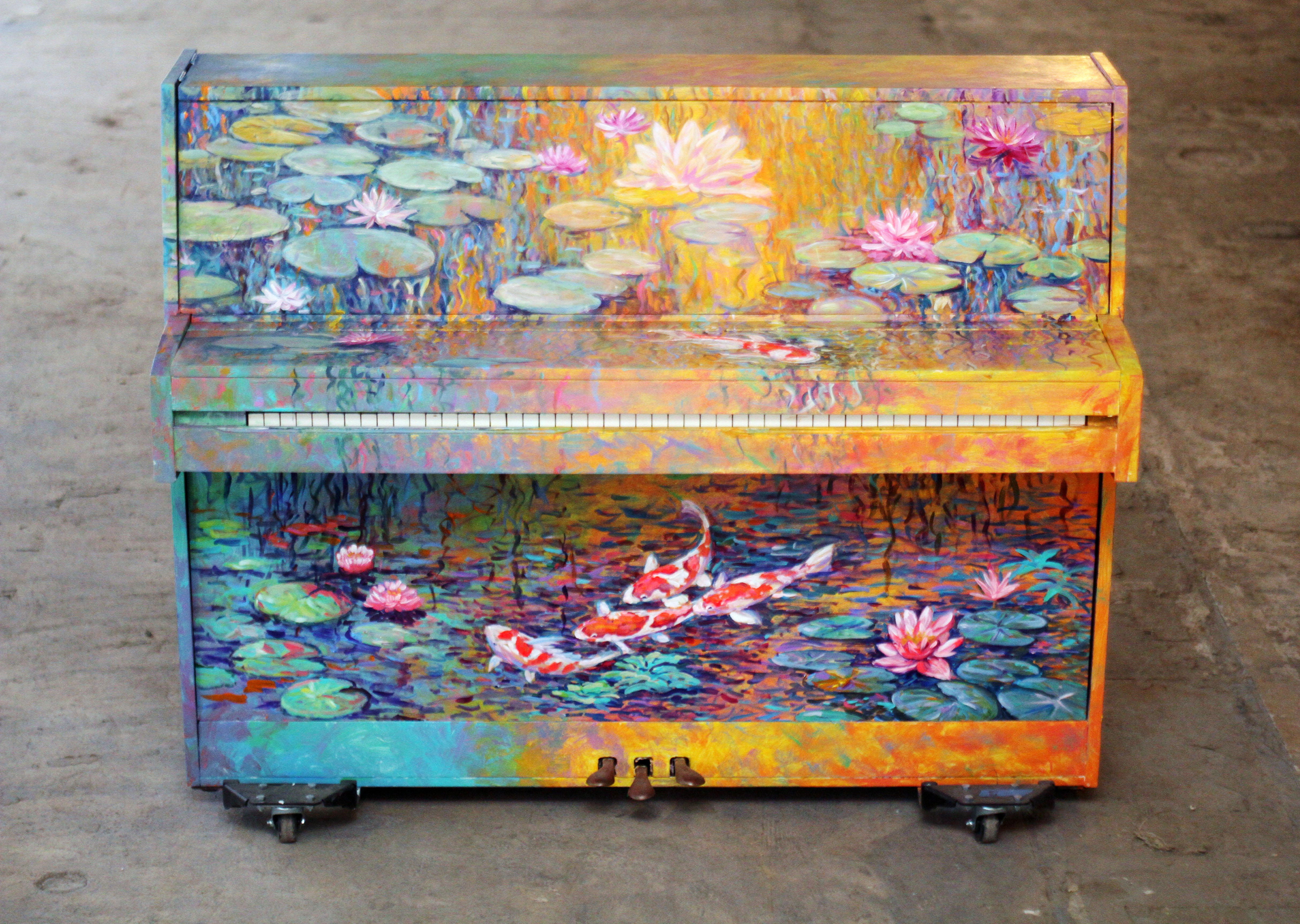 2018 Sing for Hope Pianos flowers