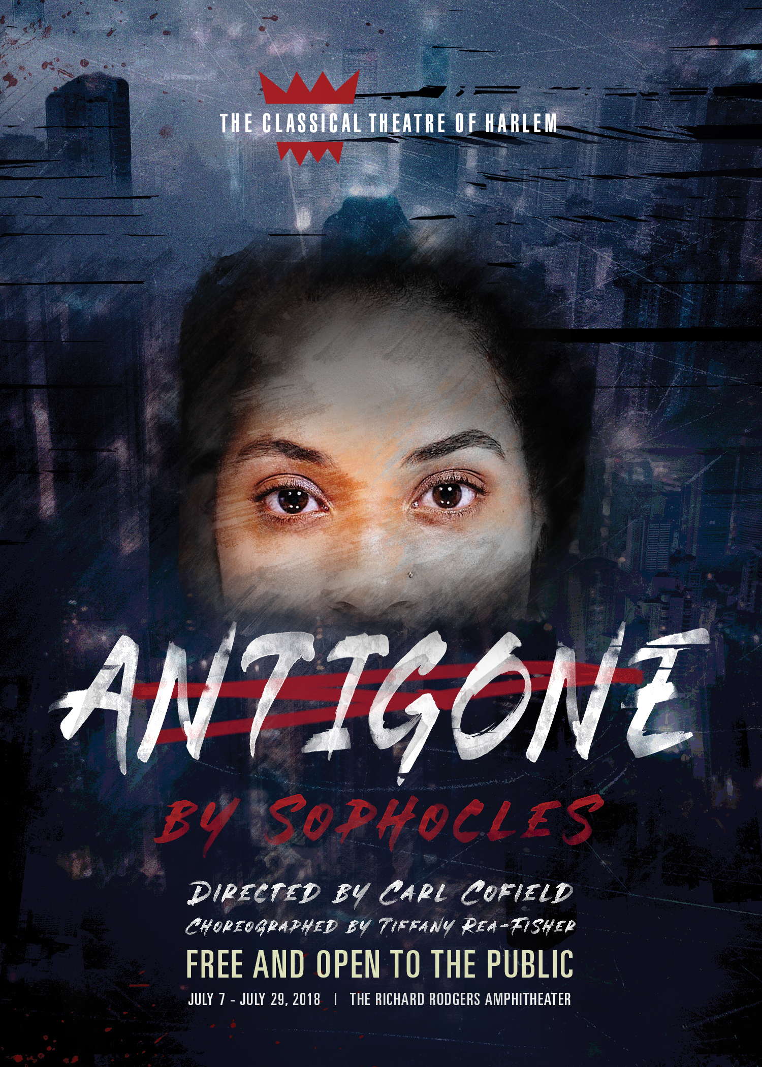 free show of antigone in nyc