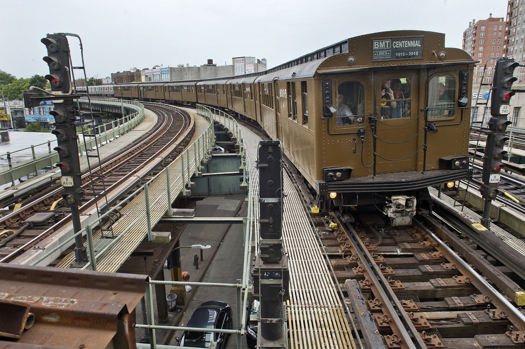 Parade of Trains in Brooklyn